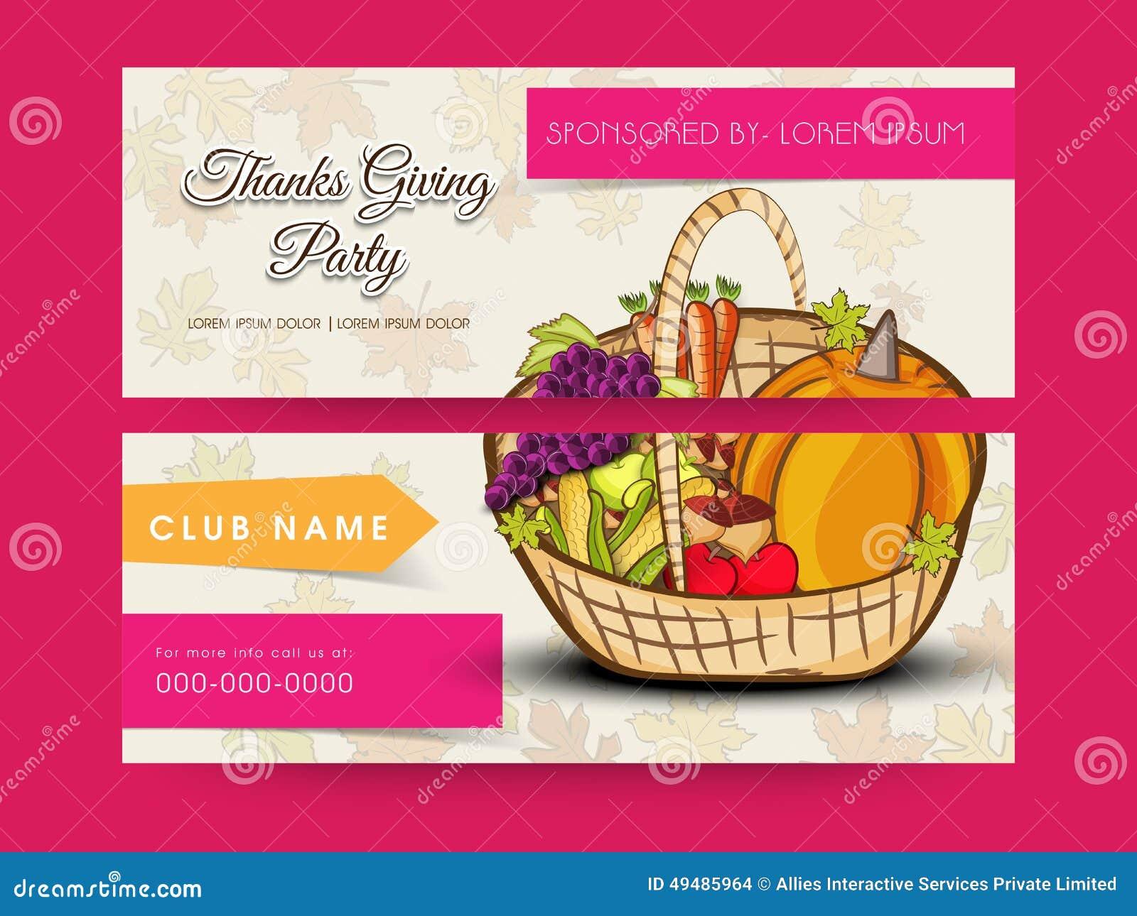 Concept of Thanksgiving Day celebration header or banner.
