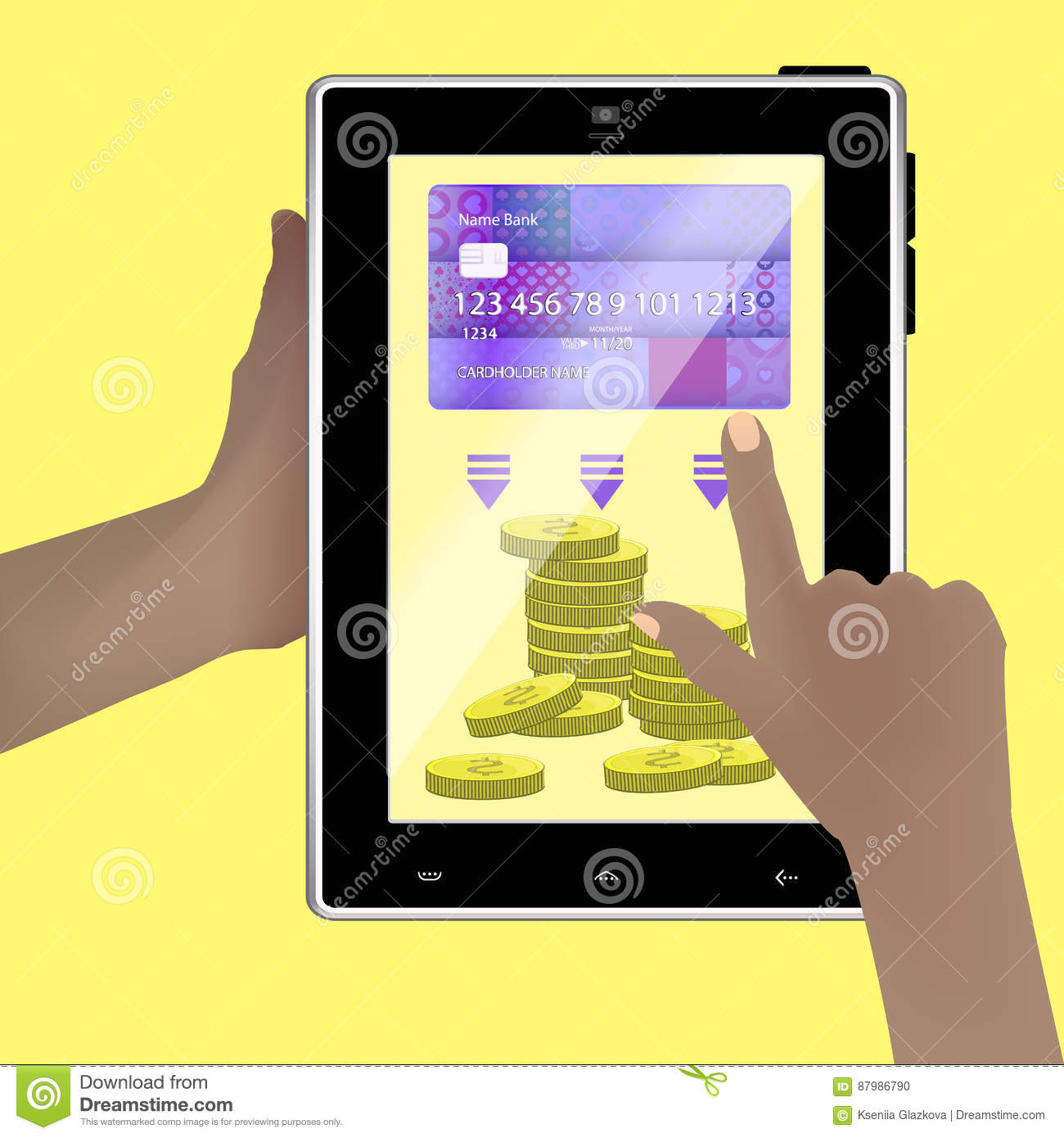 Concept Of Transferring Money From One Account Stock Vector