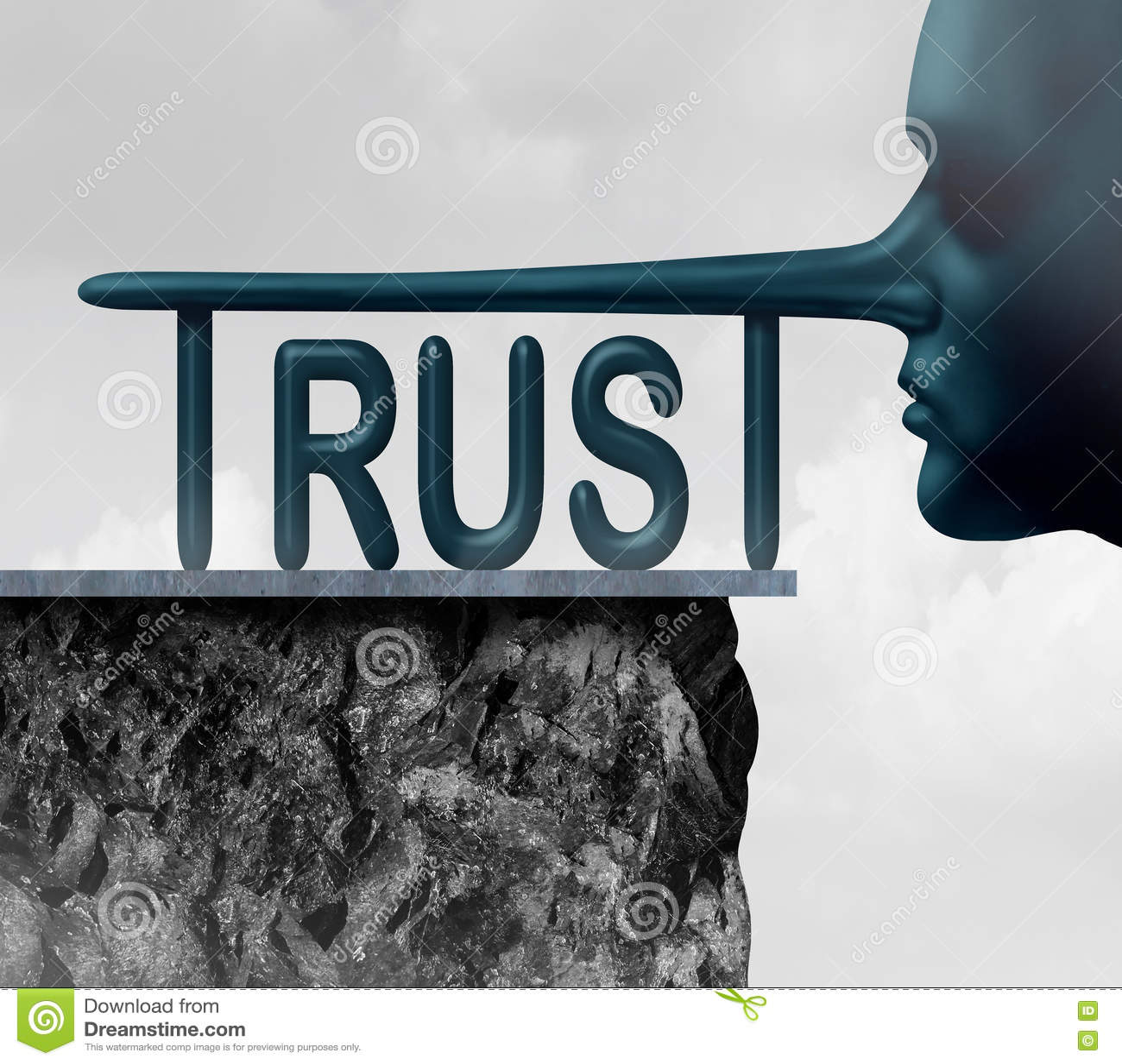 Concept Of Trust Stock Illustration Illustration Of Corruption