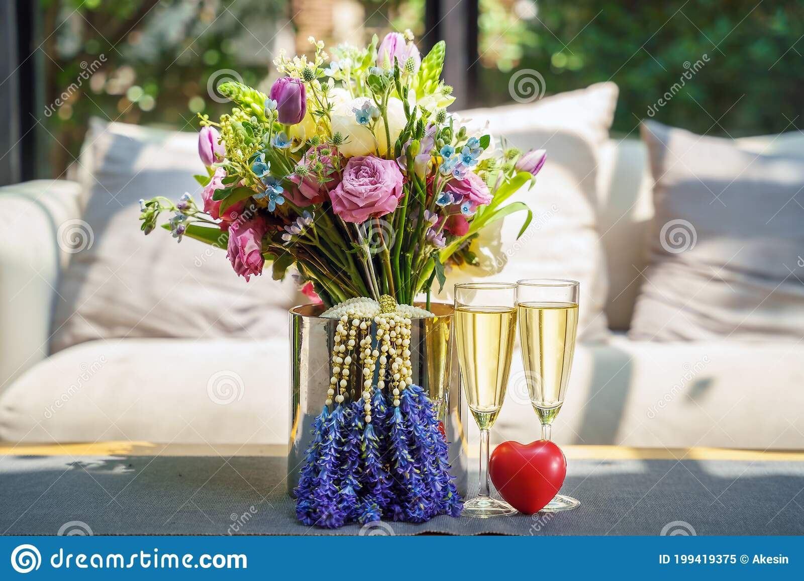 Concept Of Valentines Day Or Wedding Anniversary Celebration Stock Image Image Of Flower Bridal 199419375