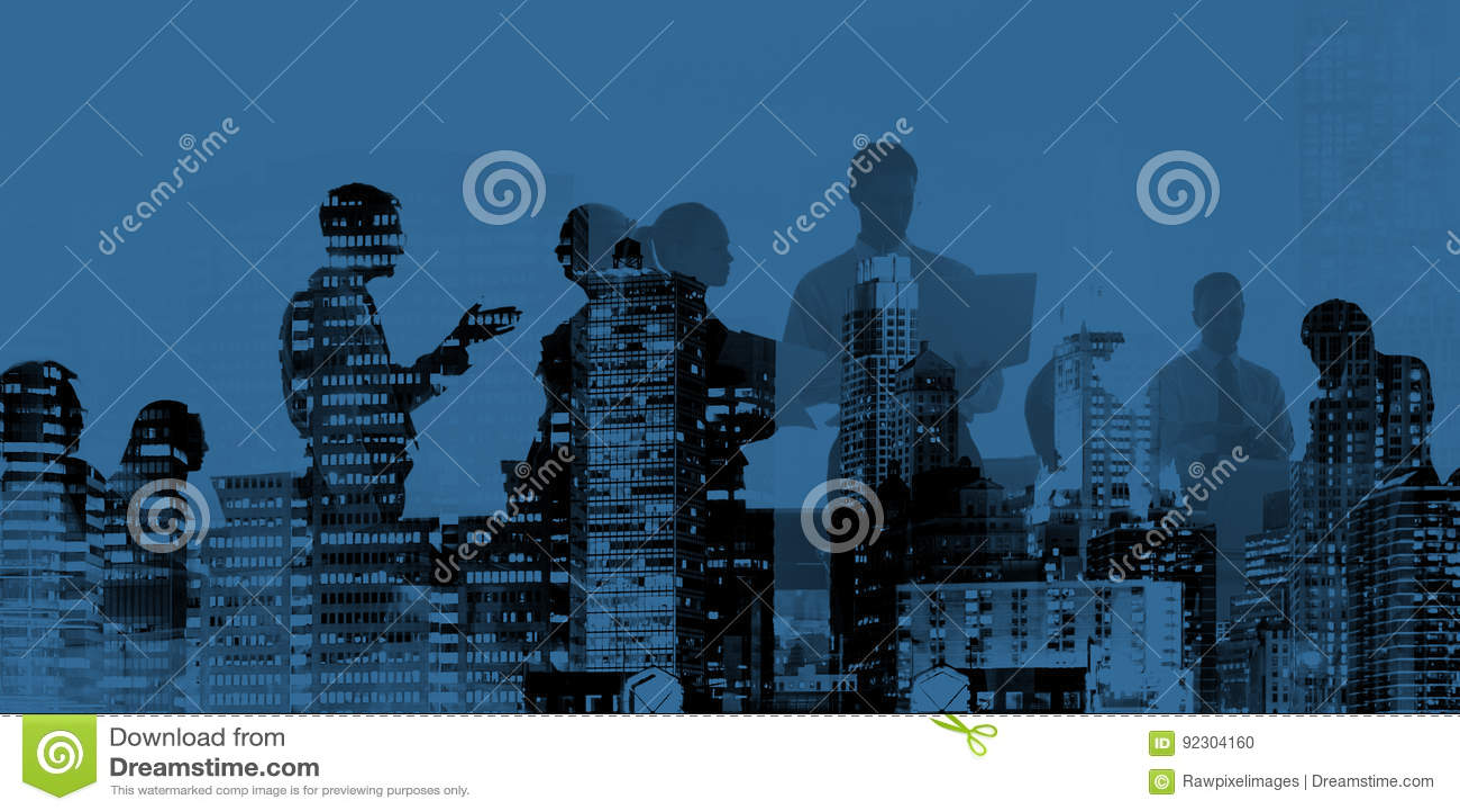 Concept van de de Besprekingsvergadering van de bedrijfsmensen het Collectieve Verbinding