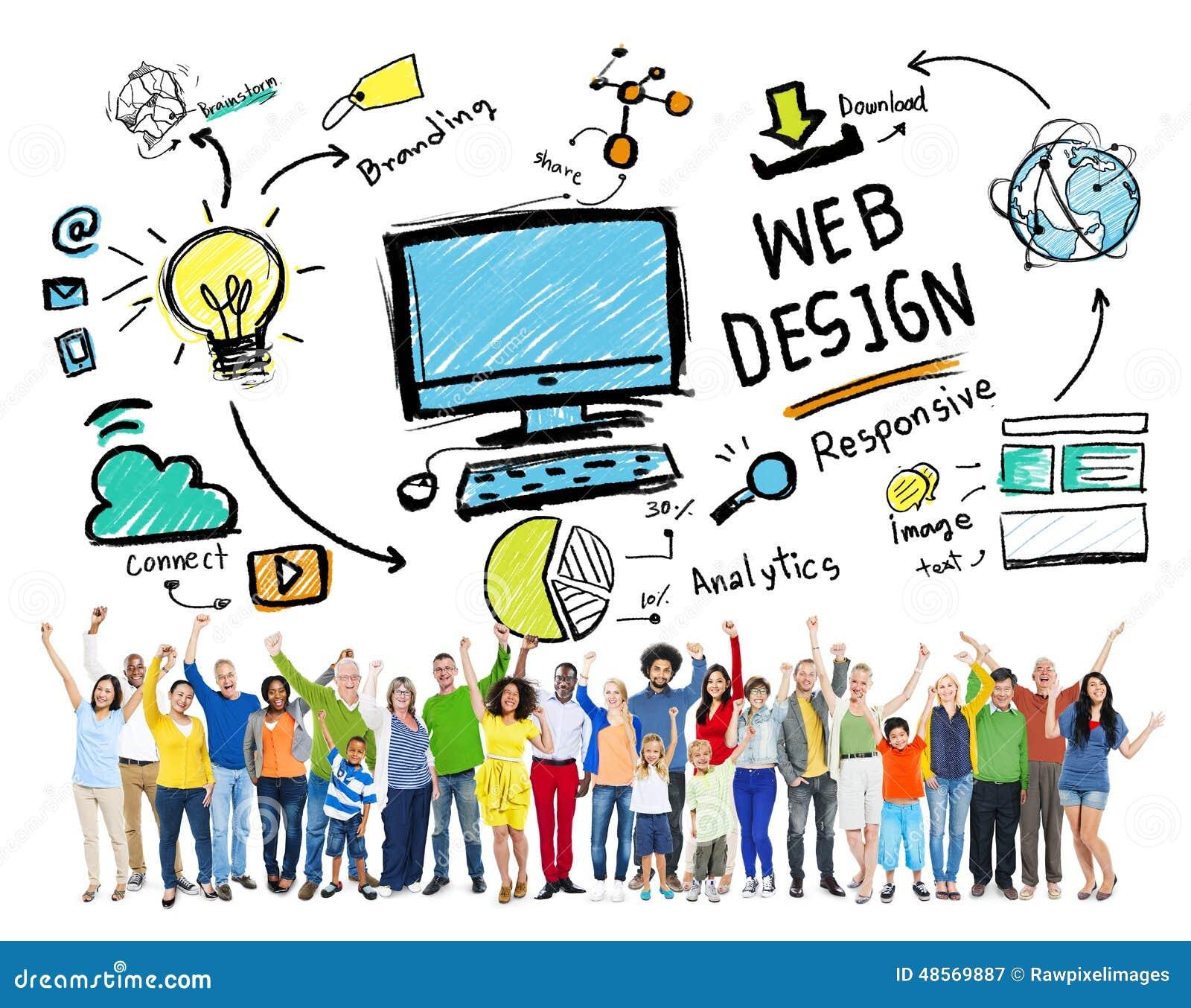 Concept van de Lay-outwebdesign van de inhoudscreativiteit het Digitale Grafische