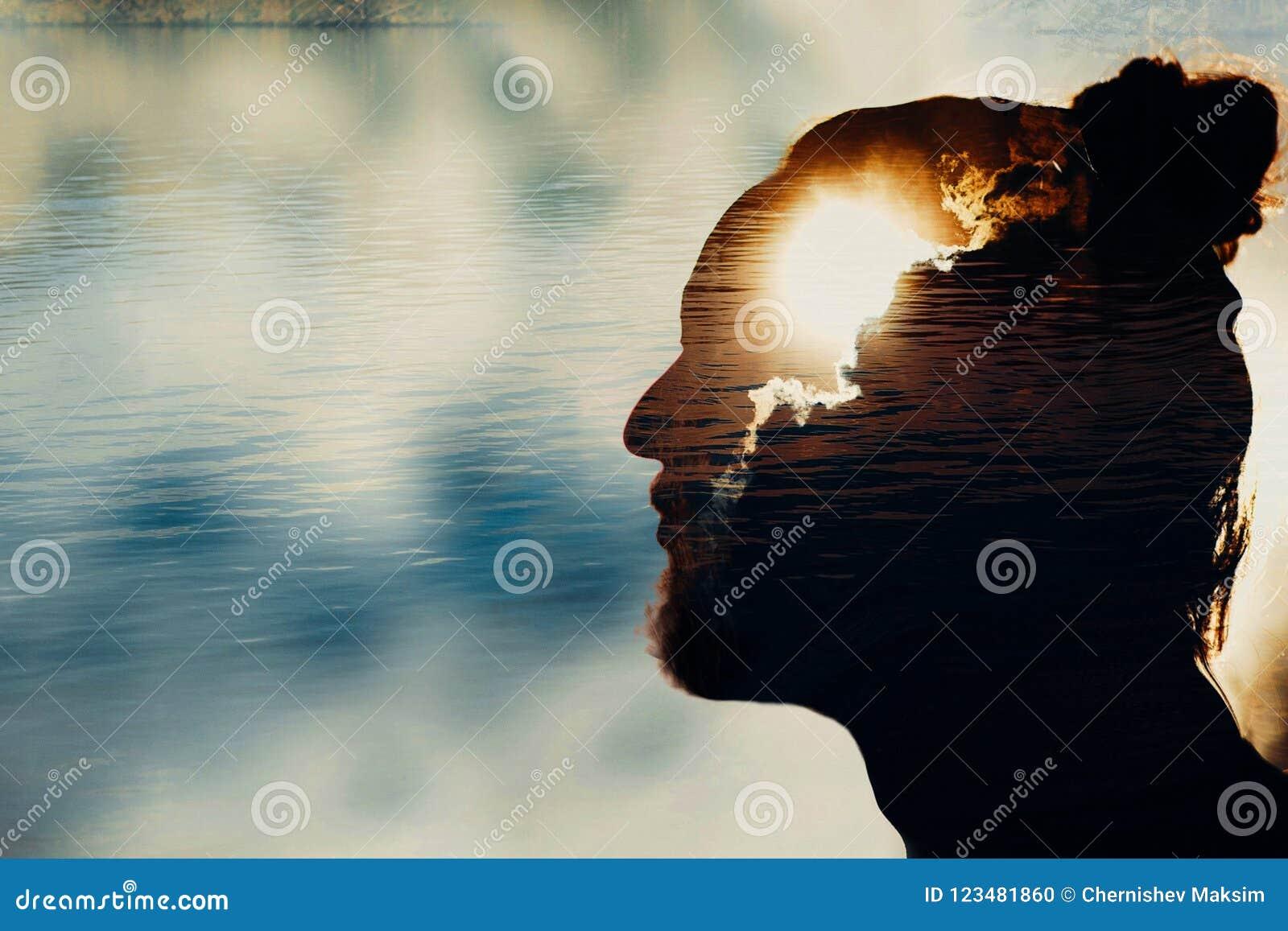 Concept van de mensen` s het geestelijke gezondheid