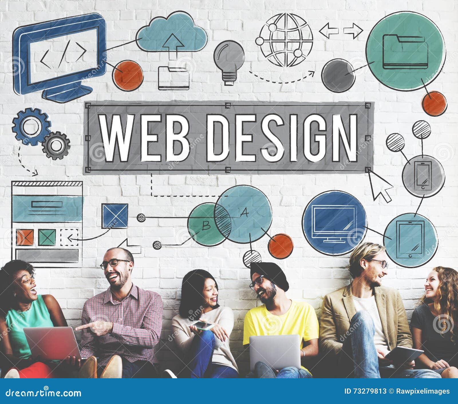 Concept van de Technologie het Digitale Illustraties van het Webontwerp