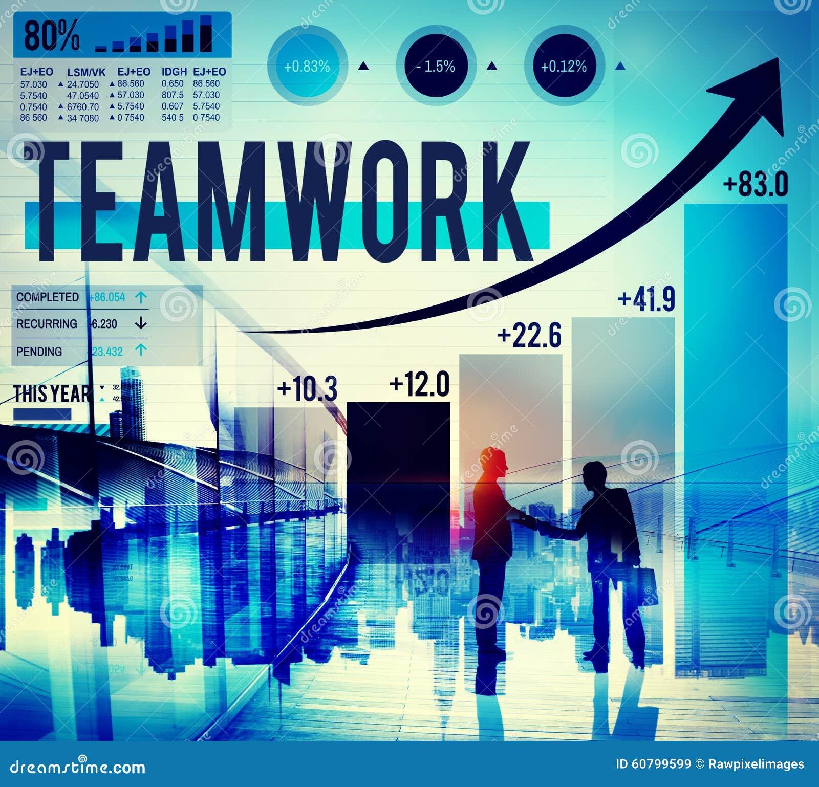Concept van het de Verbindingsvennootschap van de groepswerk het Collectieve Samenwerking