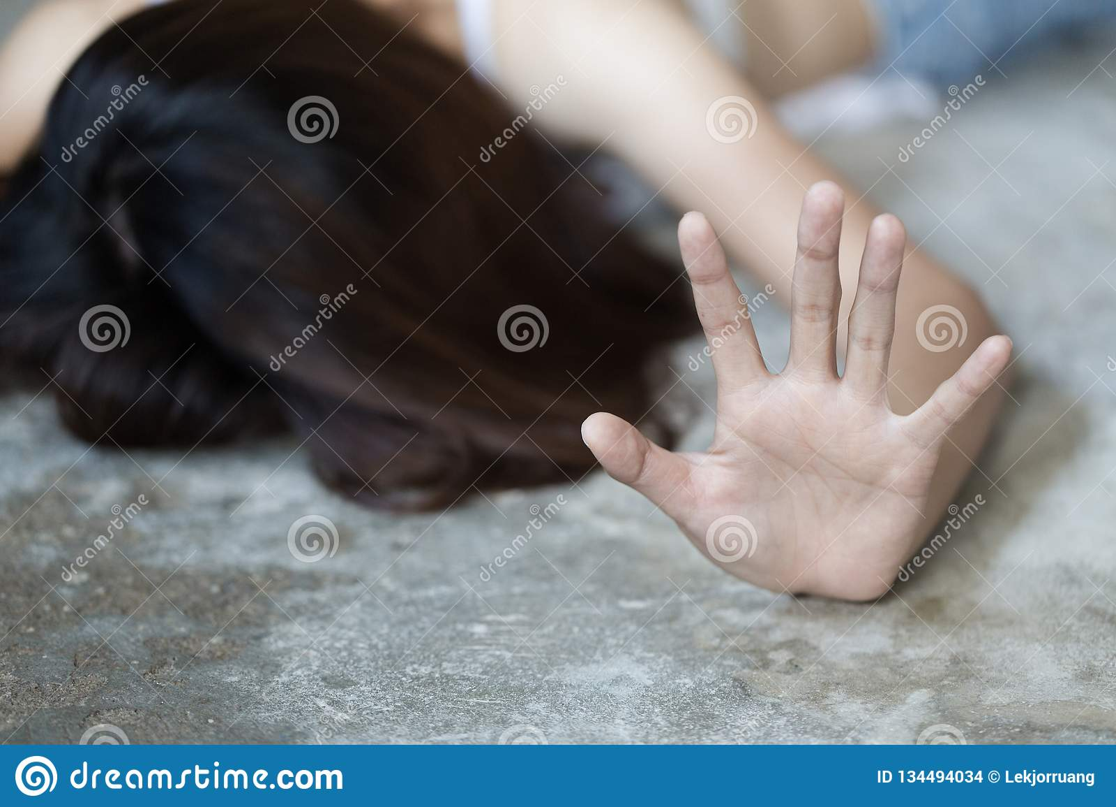 Concept van het einde het Seksuele misbruik, eindegeweld tegen Vrouwen, de dag van internationale vrouwen, het concept seksuele i
