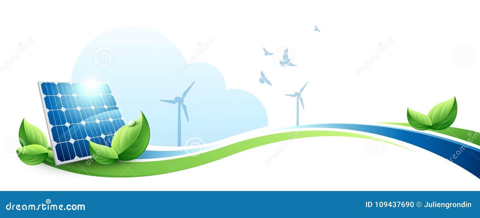 Concept vert d énergie