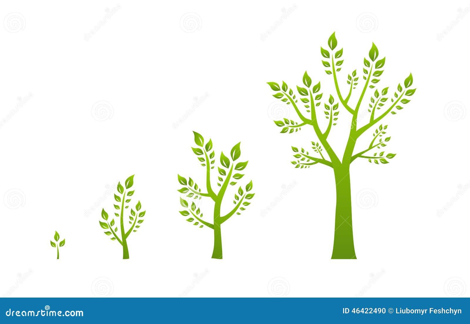 concept vert d 39 eco de croissance d 39 arbre illustration de vecteur illustration du environnement. Black Bedroom Furniture Sets. Home Design Ideas