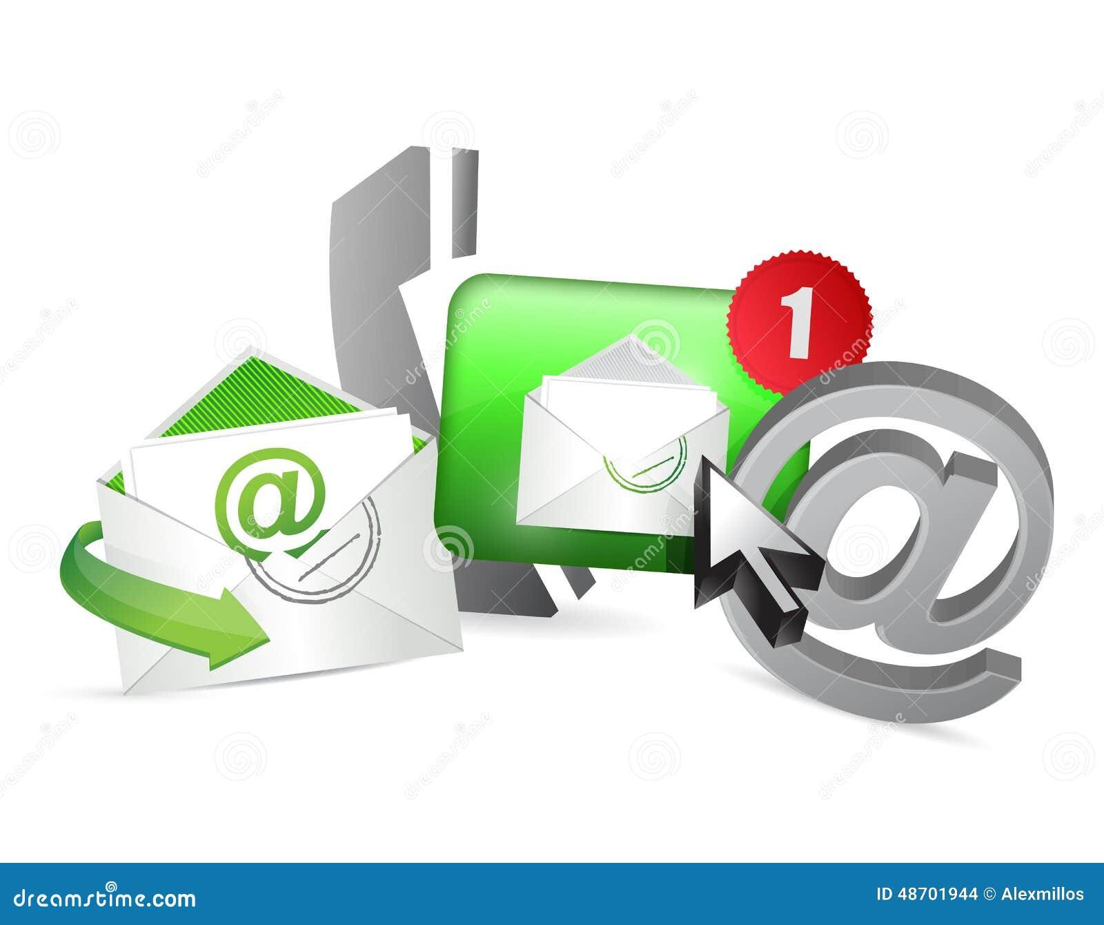 Concept vert de graphique d icônes de contactez-nous