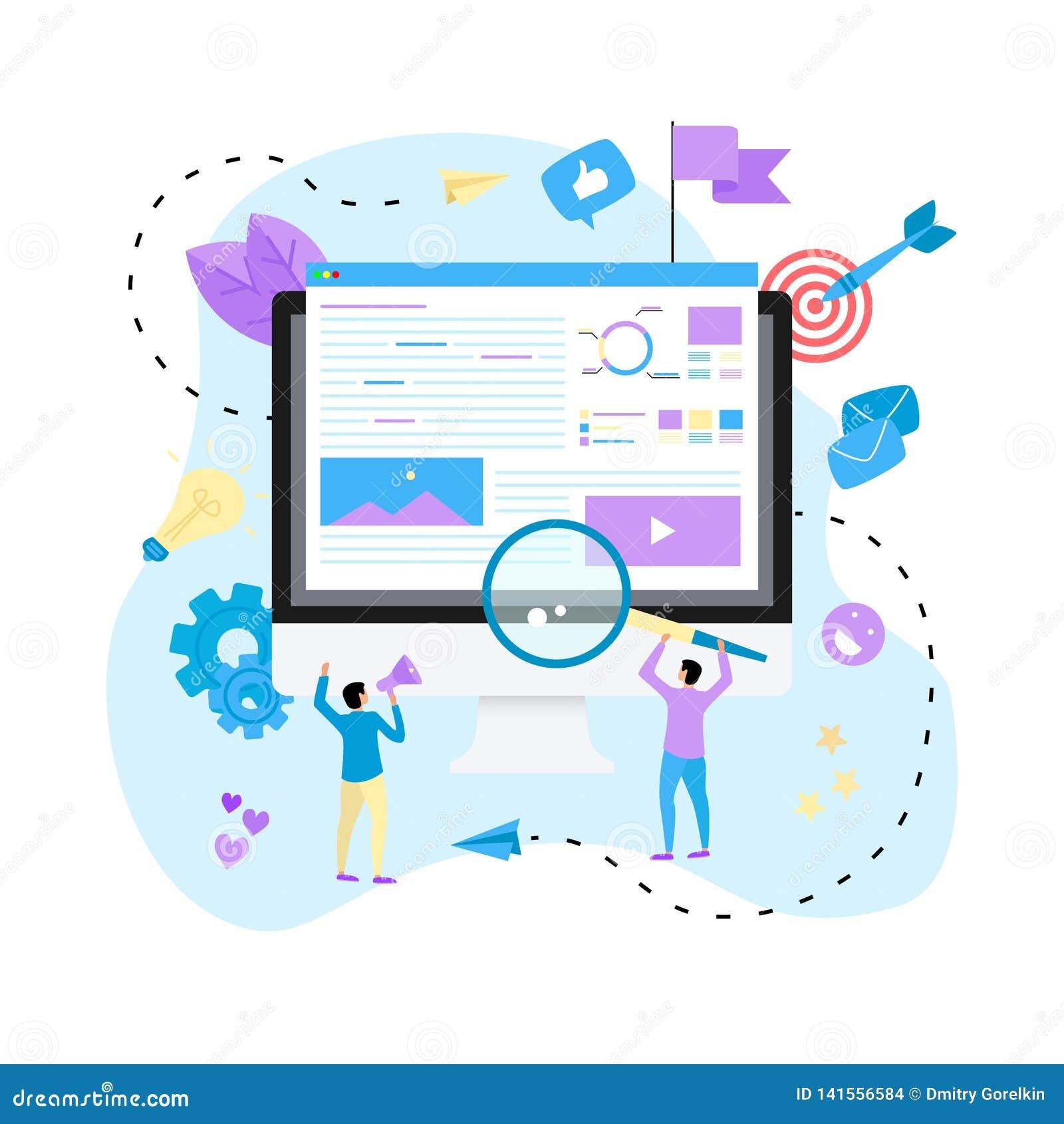 Concept voor Digitaal op de markt brengend agentschap