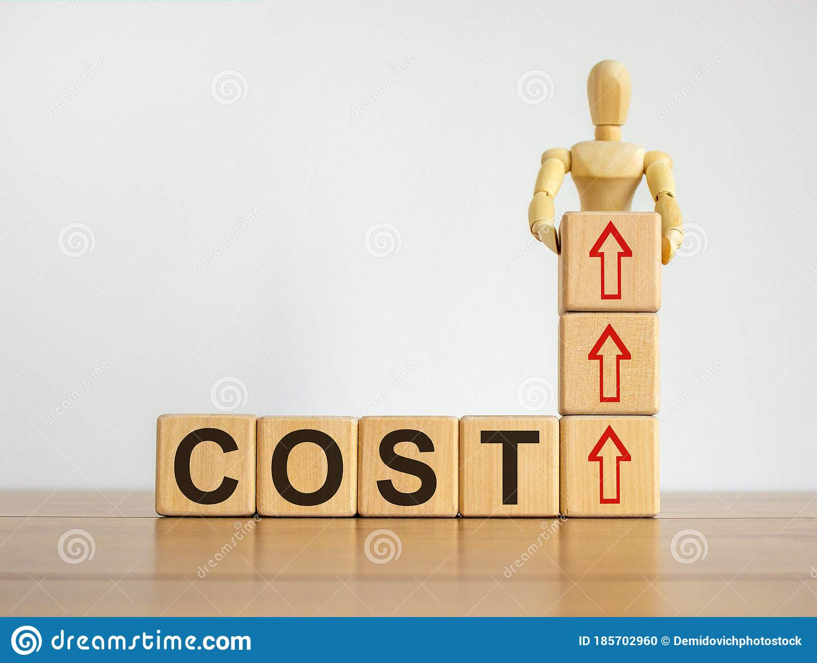 Concept Word `cost` On Cubes On A Beautiful Wooden Table ...