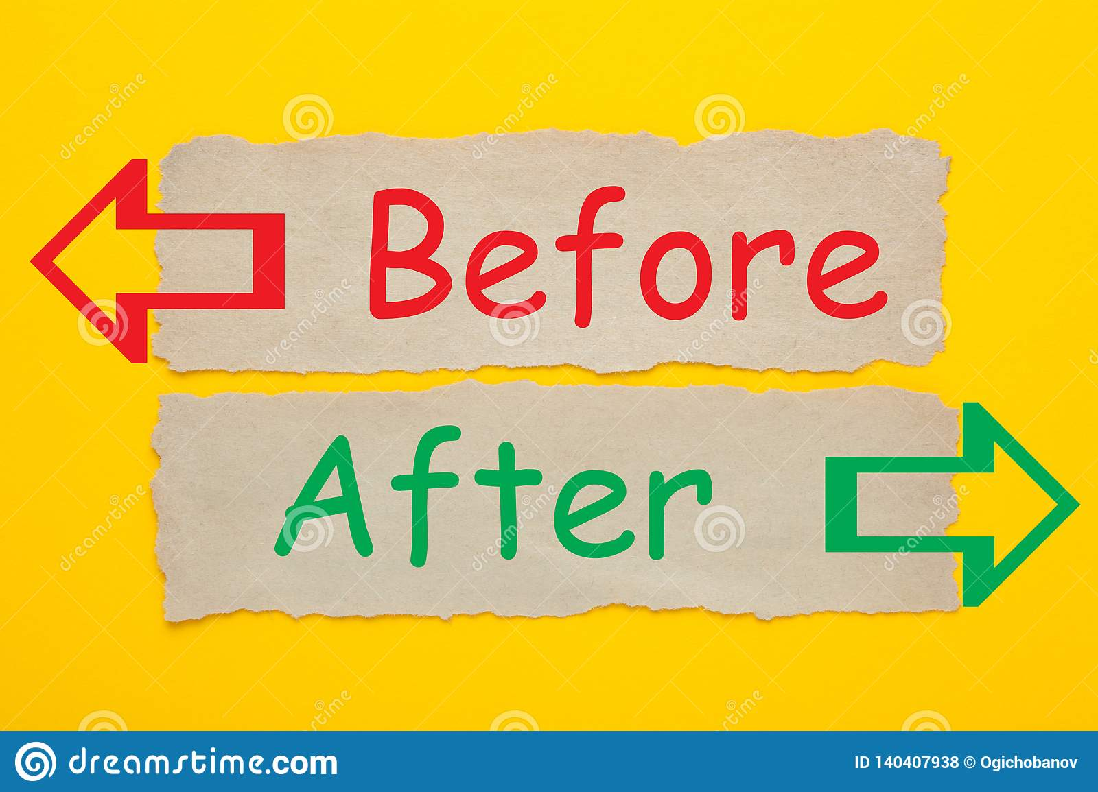 Before After Concept stock photo. Image of communication - 140407938