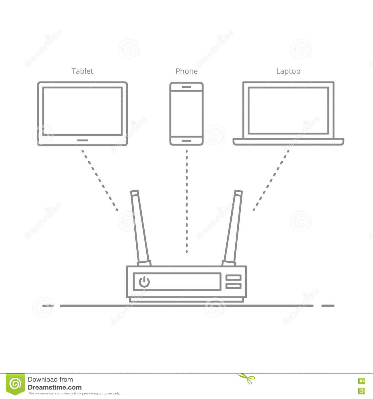 Concept Of The Work Of The Router In The Office Or At Home ... on