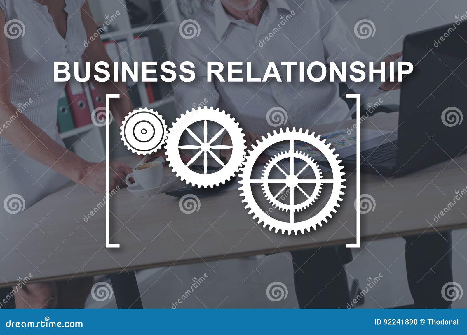 Concept zakelijke relatie