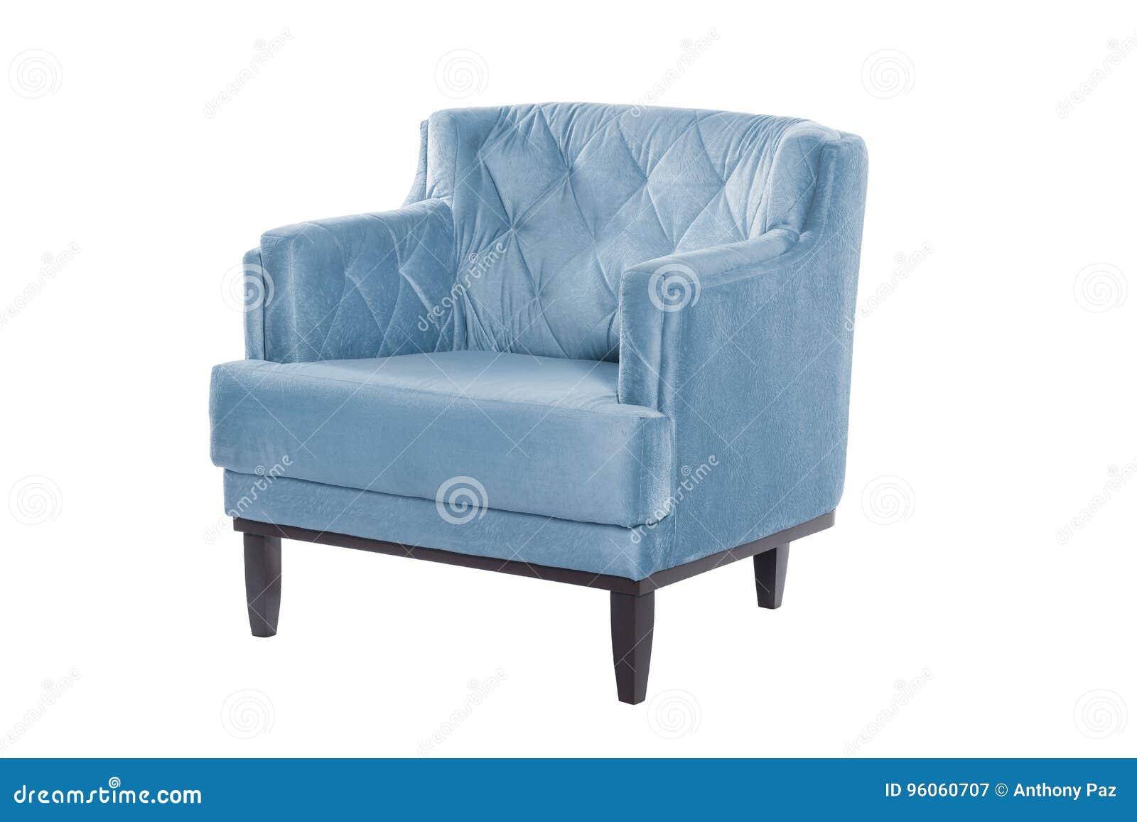 Concepteur moderne de fauteuil bleu