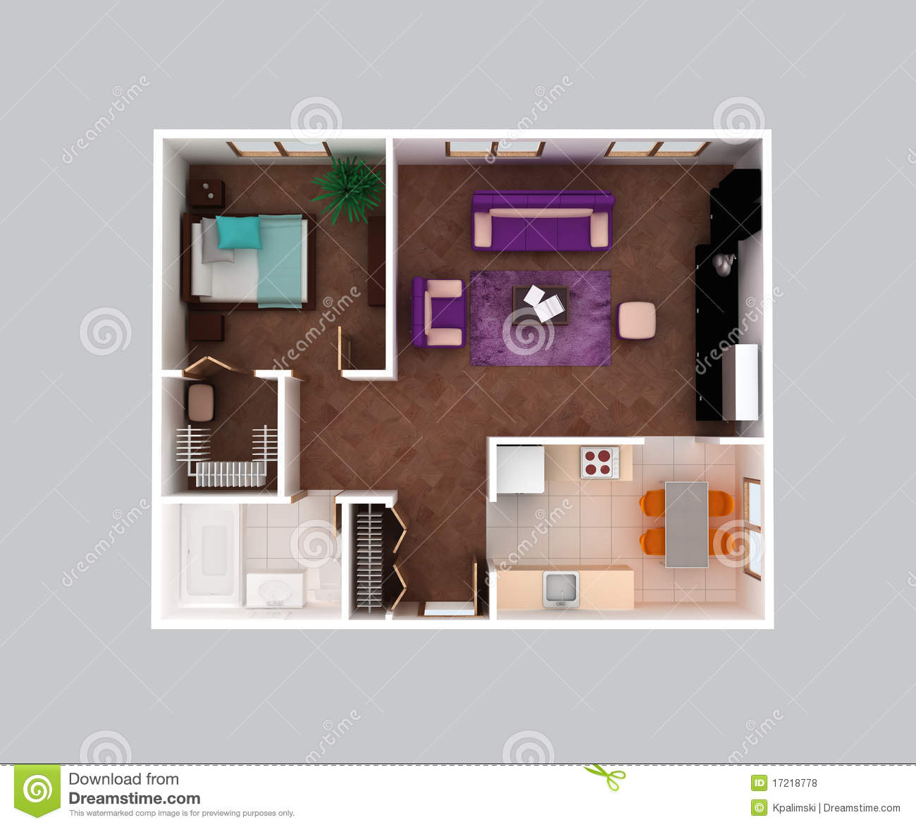 Conception la maison du plan d 39 tage d 39 appartement 3d for Appartement 3d gratuit