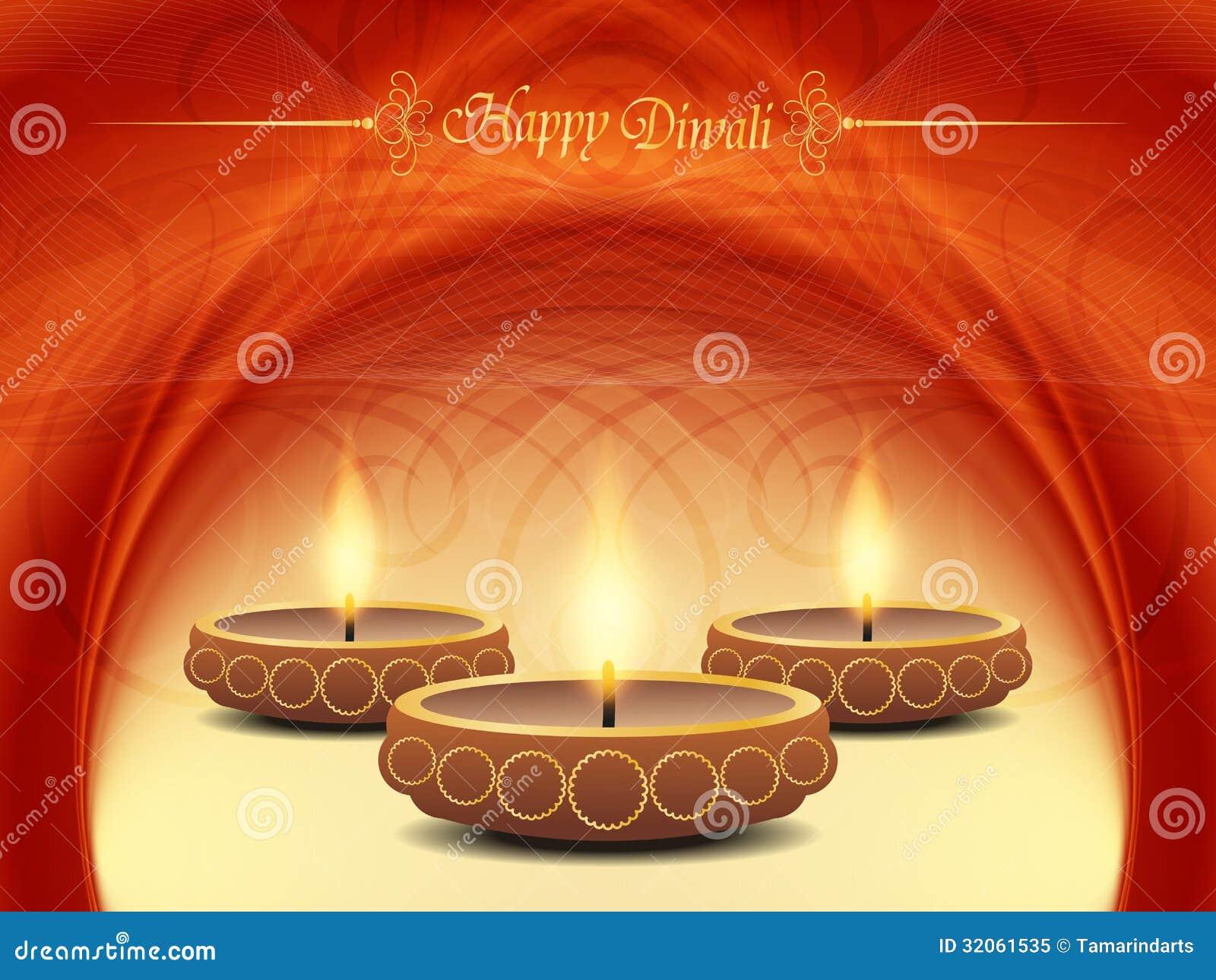 Conception élégante de fond pour le festival de diwali avec