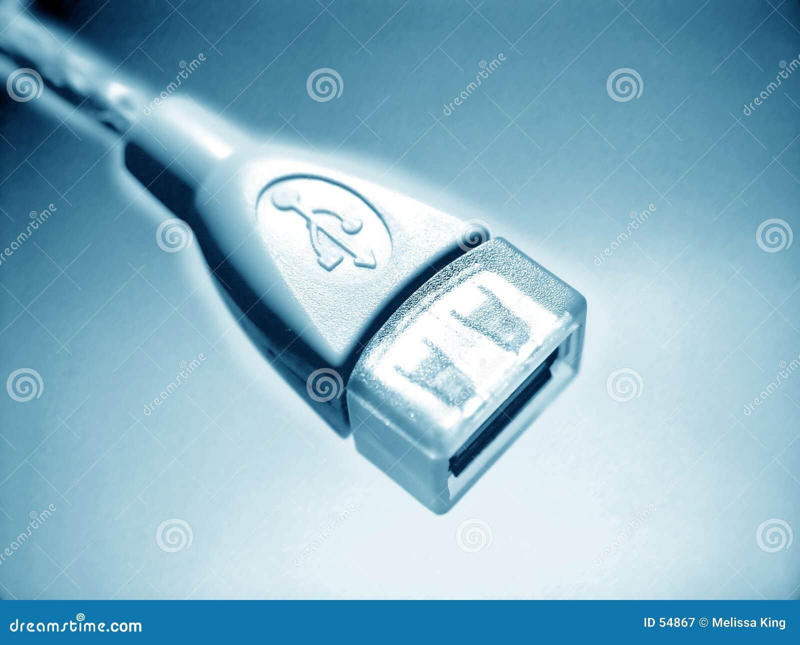 Conception abstraite bleue d USB