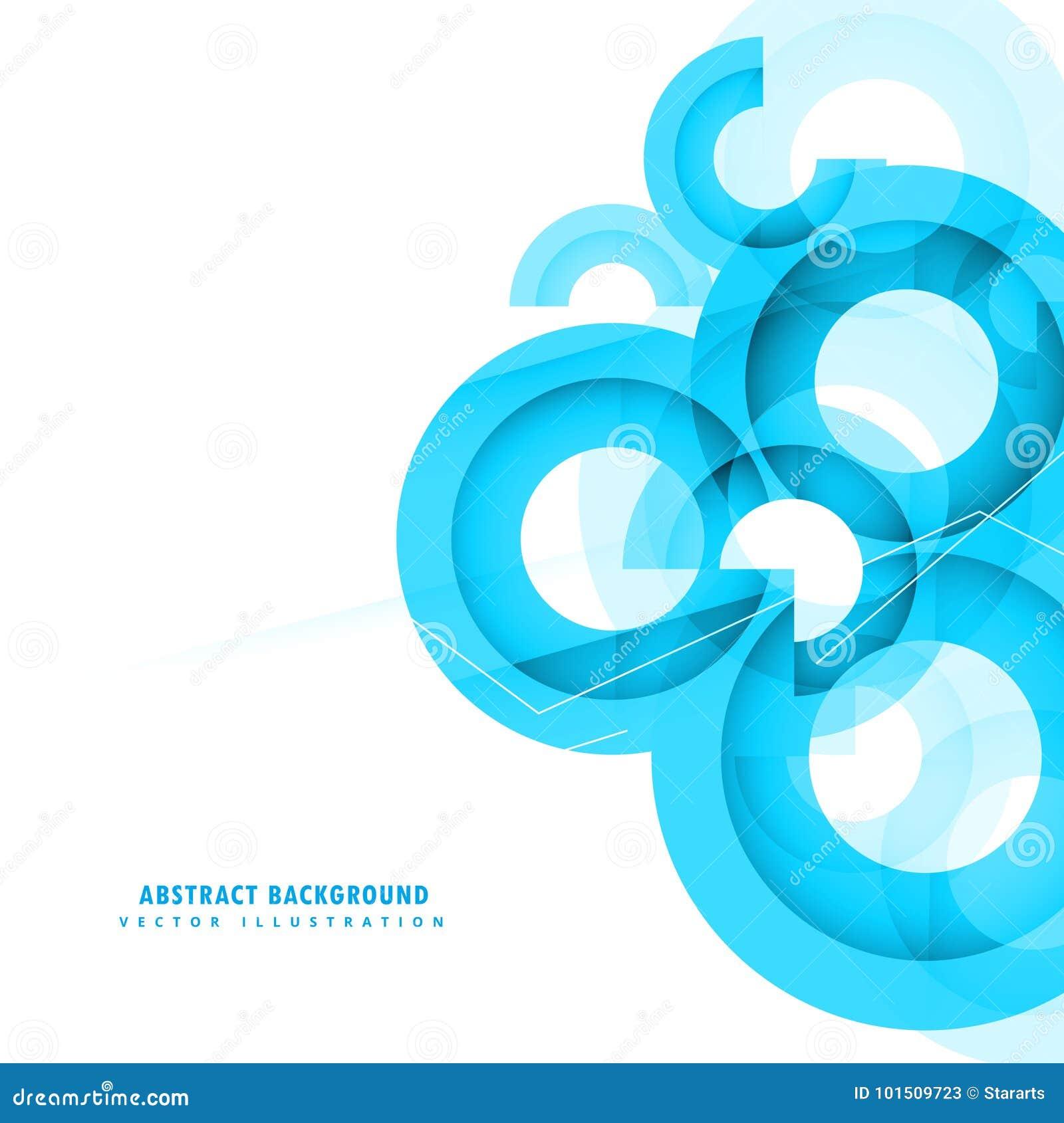 Conception abstraite de fond de cercles de bleu