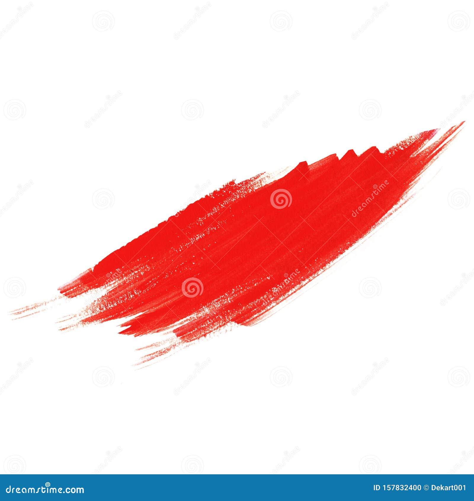 Conception Abstraite De La Texture De La Peinture A Brosse Rouge Trace En Acrylique Isole Sur Fond Blanc Pour Votre Dessin Illustration Stock Illustration Du Fond Peinture 157832400