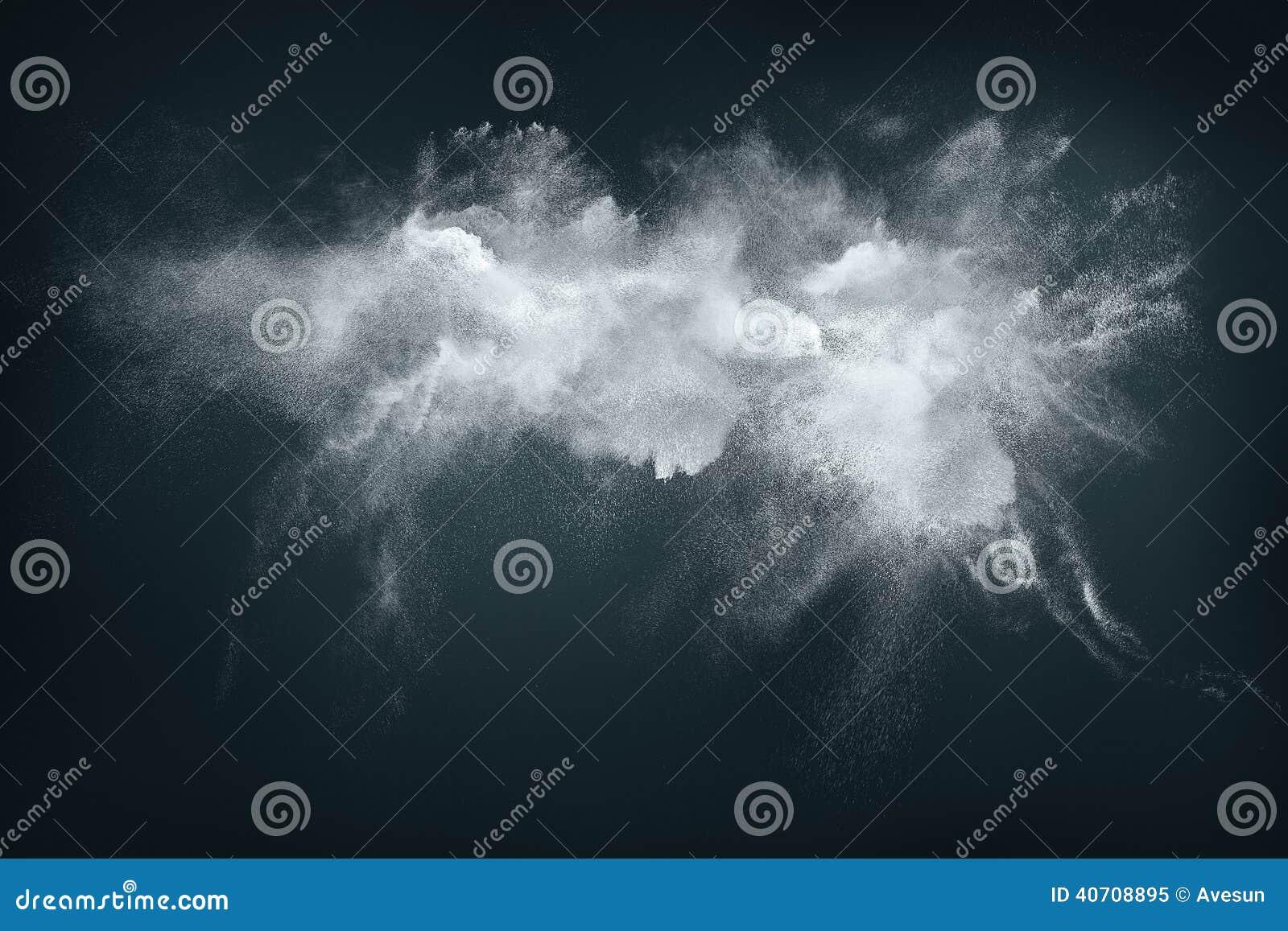 Conception abstraite du nuage blanc de poudre