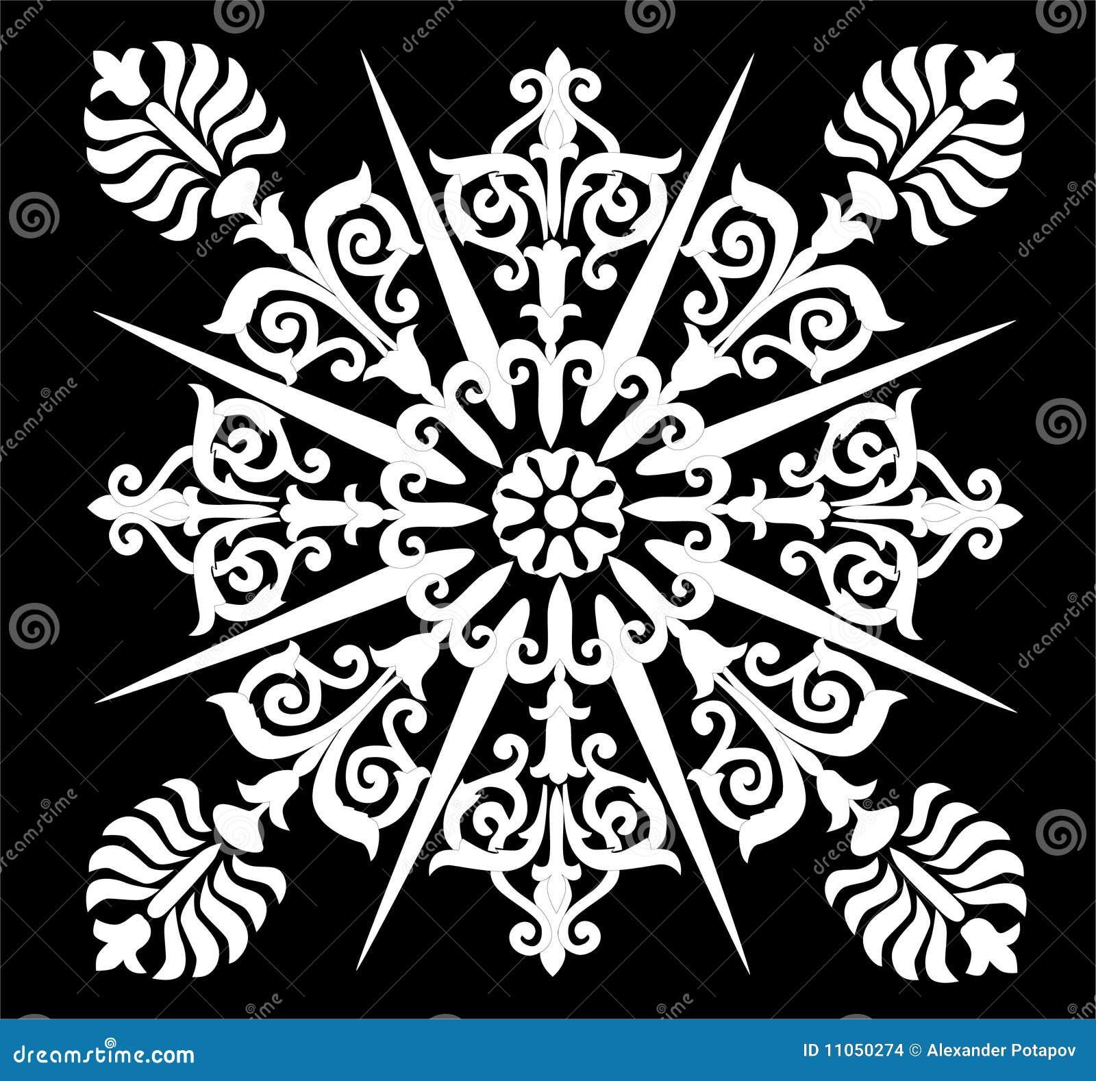 Conception abstraite enroulée par blanc