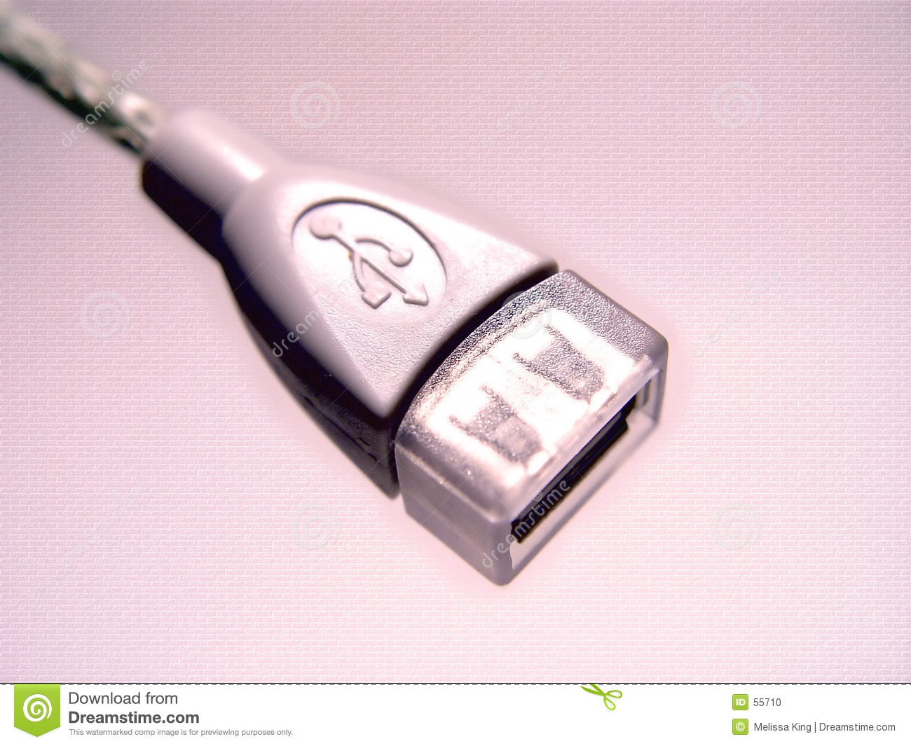 Conception abstraite rose d USB