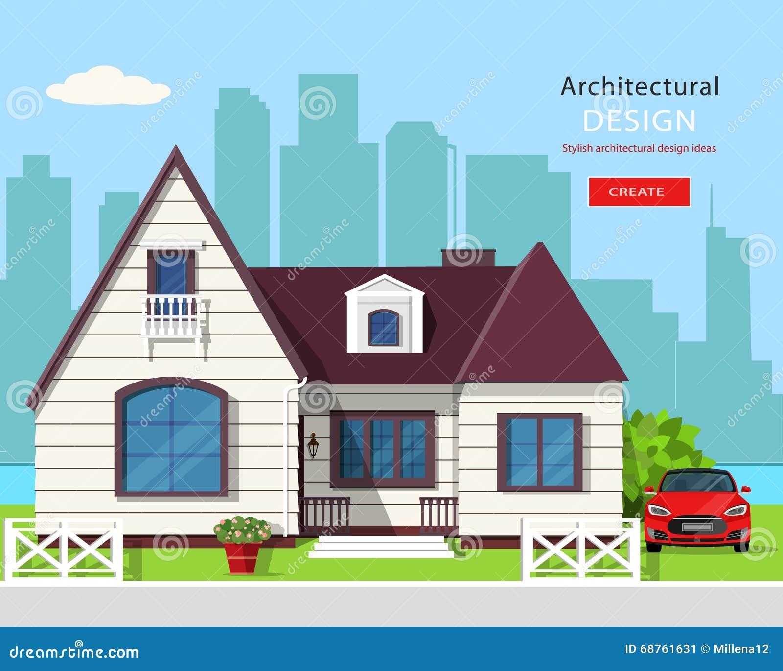 Conception de architecturale de maisons moderne for Conception maison moderne