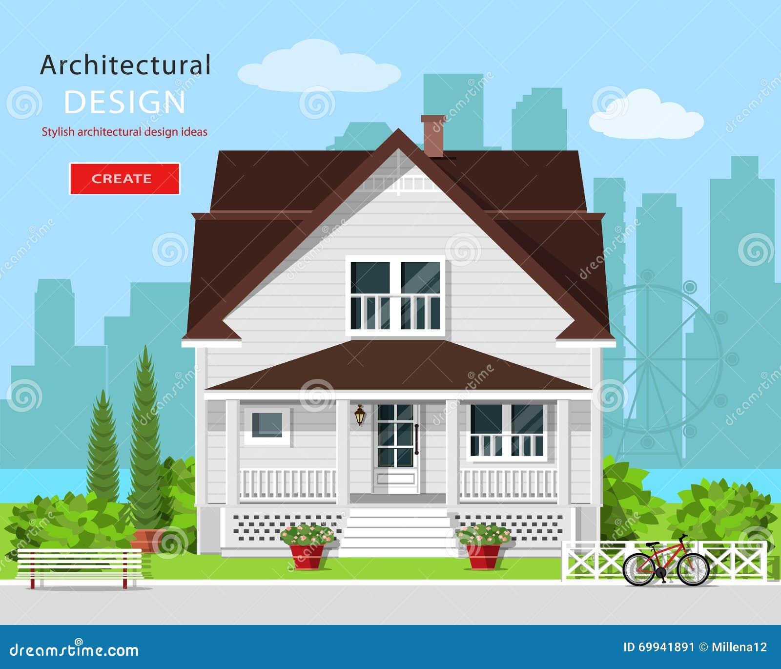 Conception de architecturale de maisons moderne maison for Conception maison moderne