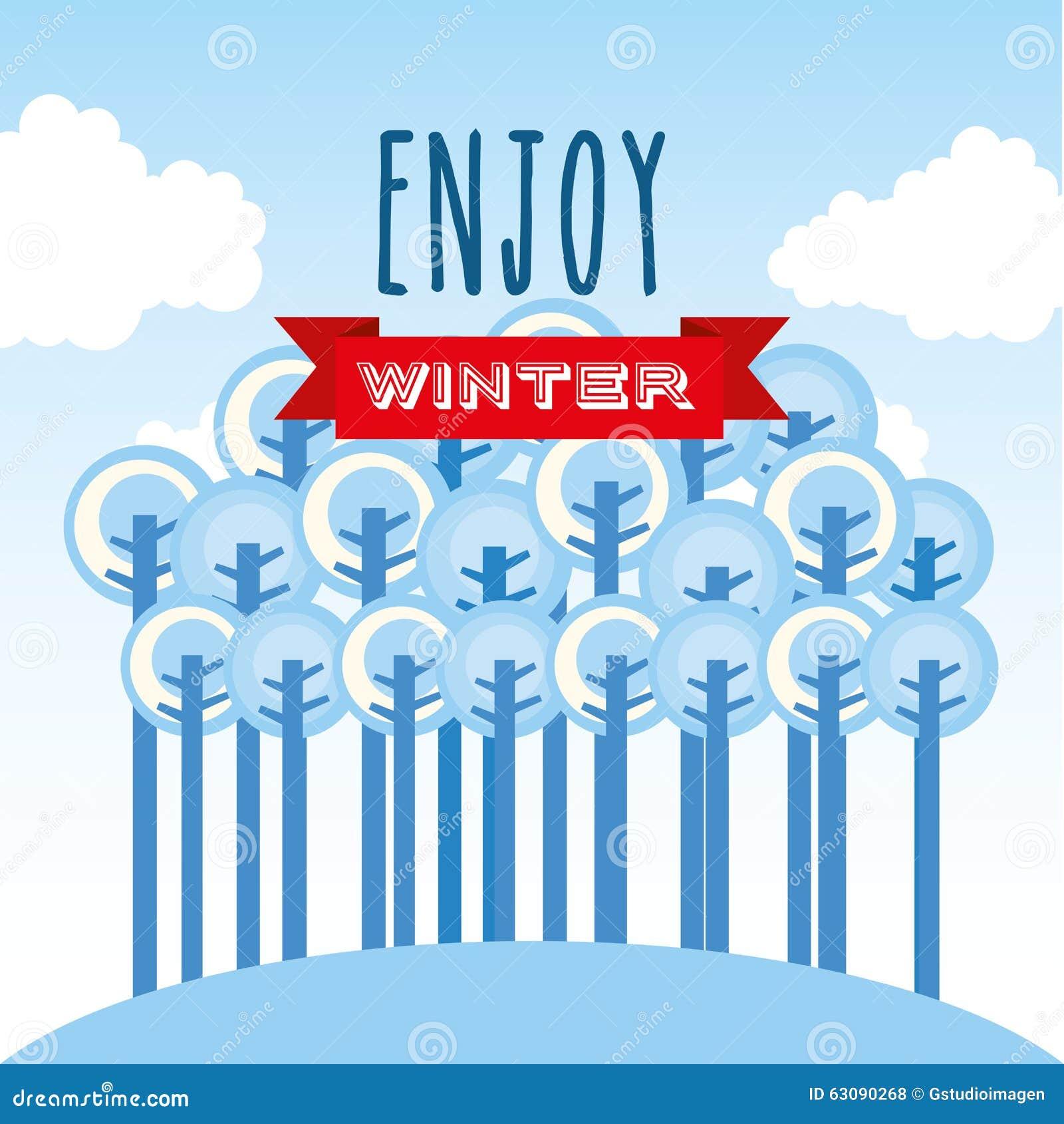 Download Conception Bienvenue D'hiver Illustration de Vecteur - Illustration du graphisme, ornement: 63090268