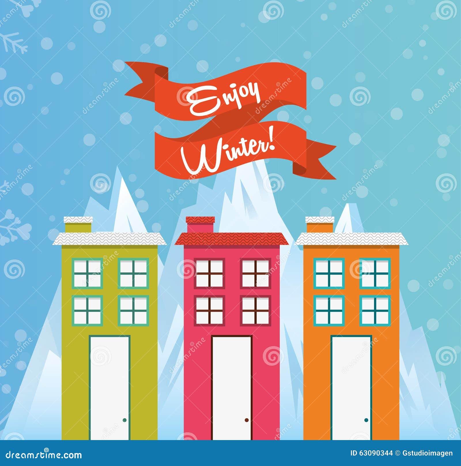 Download Conception Bienvenue D'hiver Illustration de Vecteur - Illustration du conception, home: 63090344