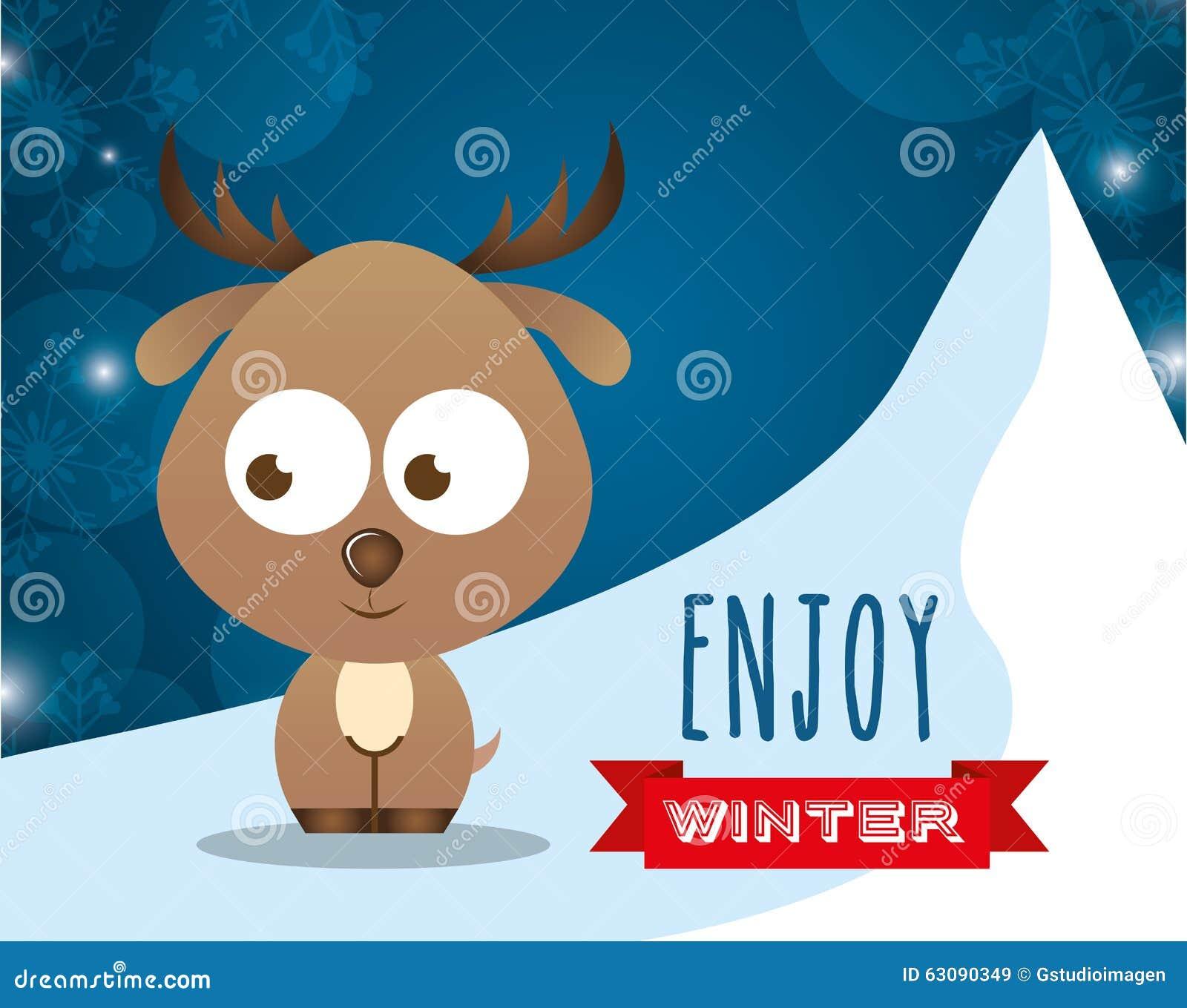 Download Conception Bienvenue D'hiver Illustration de Vecteur - Illustration du dessin, conception: 63090349