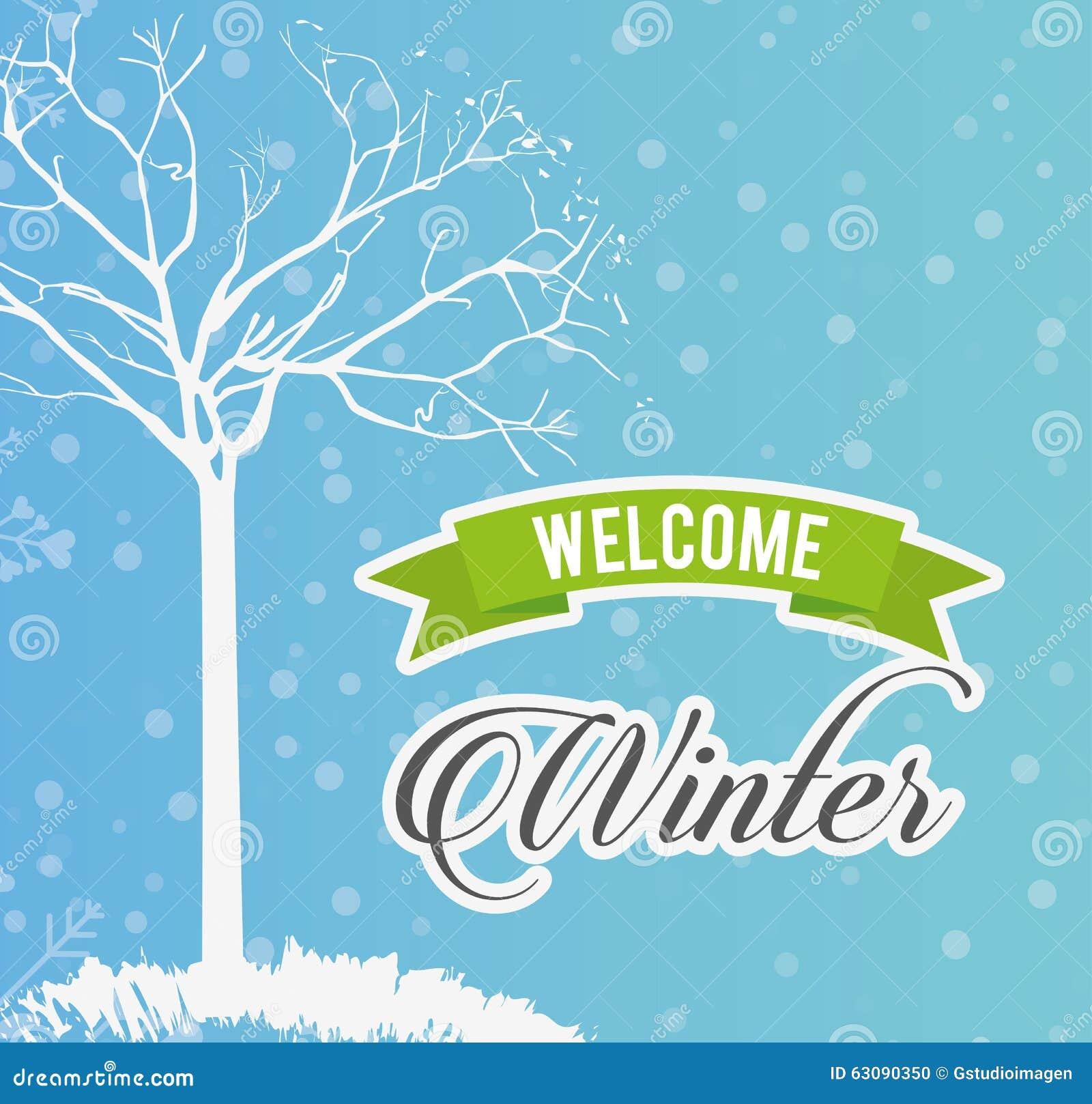 Download Conception Bienvenue D'hiver Illustration de Vecteur - Illustration du neige, symbole: 63090350