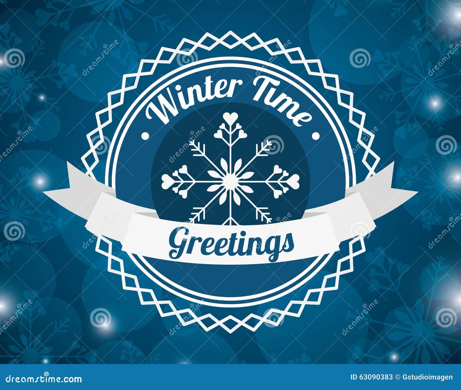 Download Conception Bienvenue D'hiver Illustration de Vecteur - Illustration du vacances, carte: 63090383