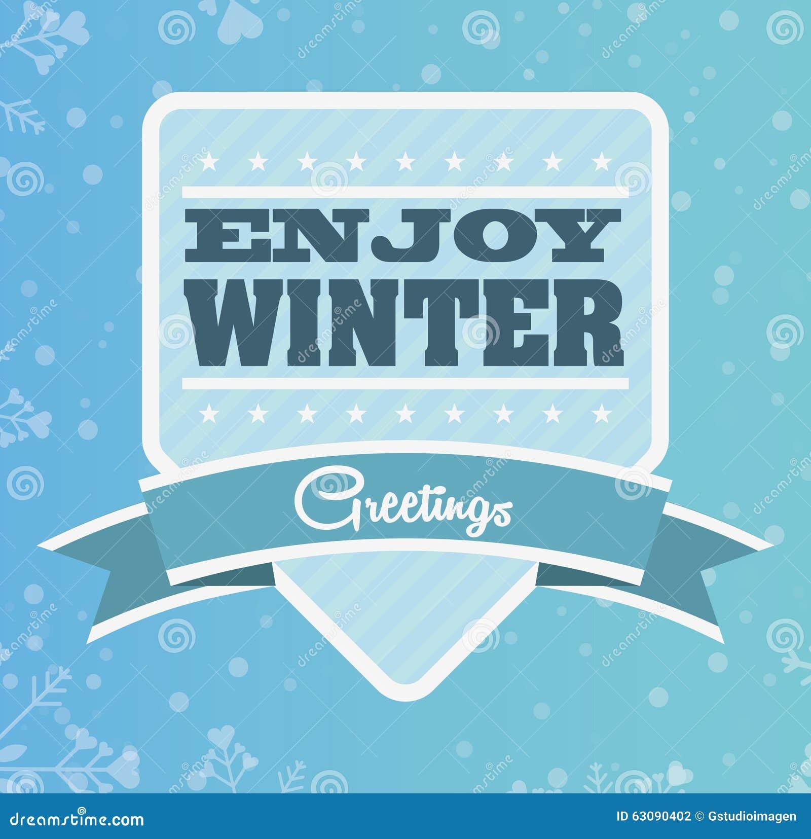 Download Conception Bienvenue D'hiver Illustration de Vecteur - Illustration du saison, neige: 63090402