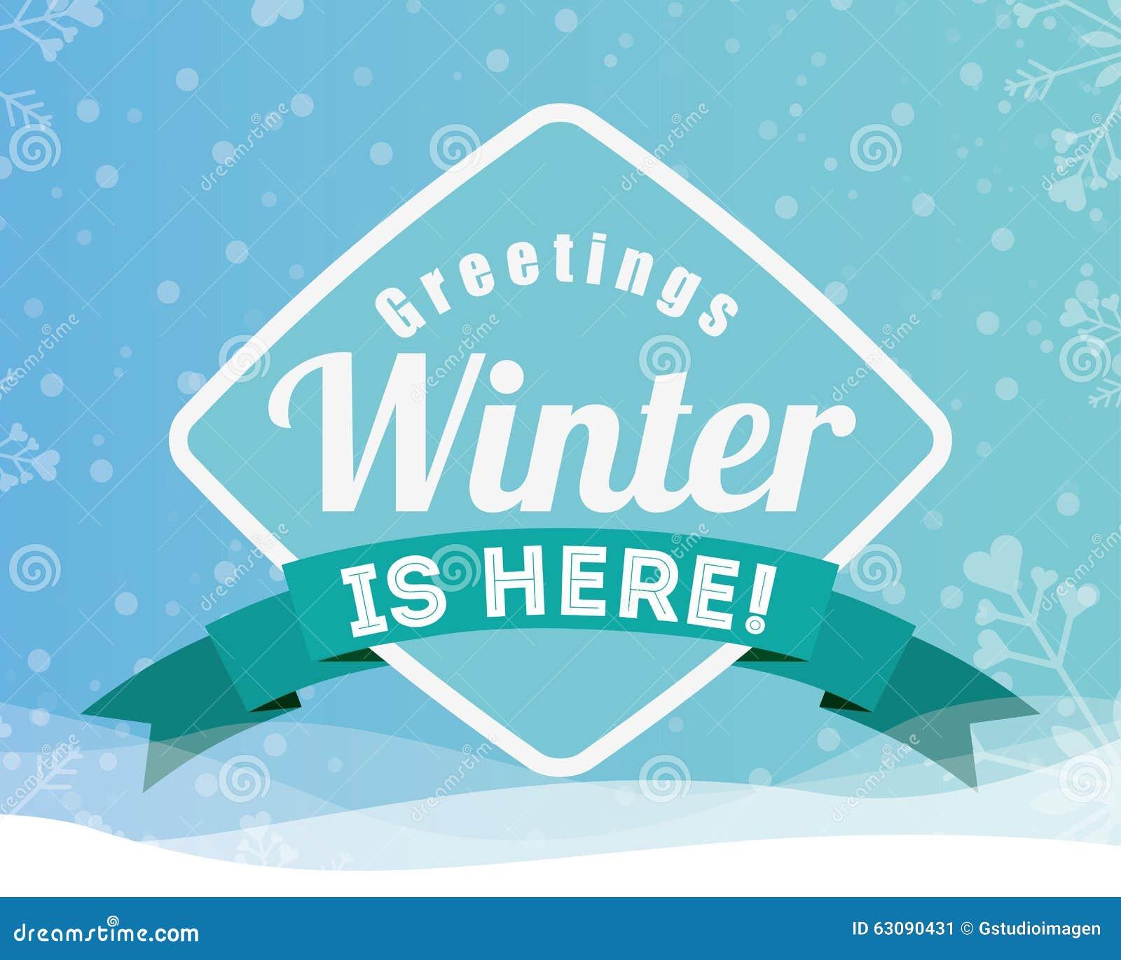 Download Conception Bienvenue D'hiver Illustration de Vecteur - Illustration du fond, neige: 63090431