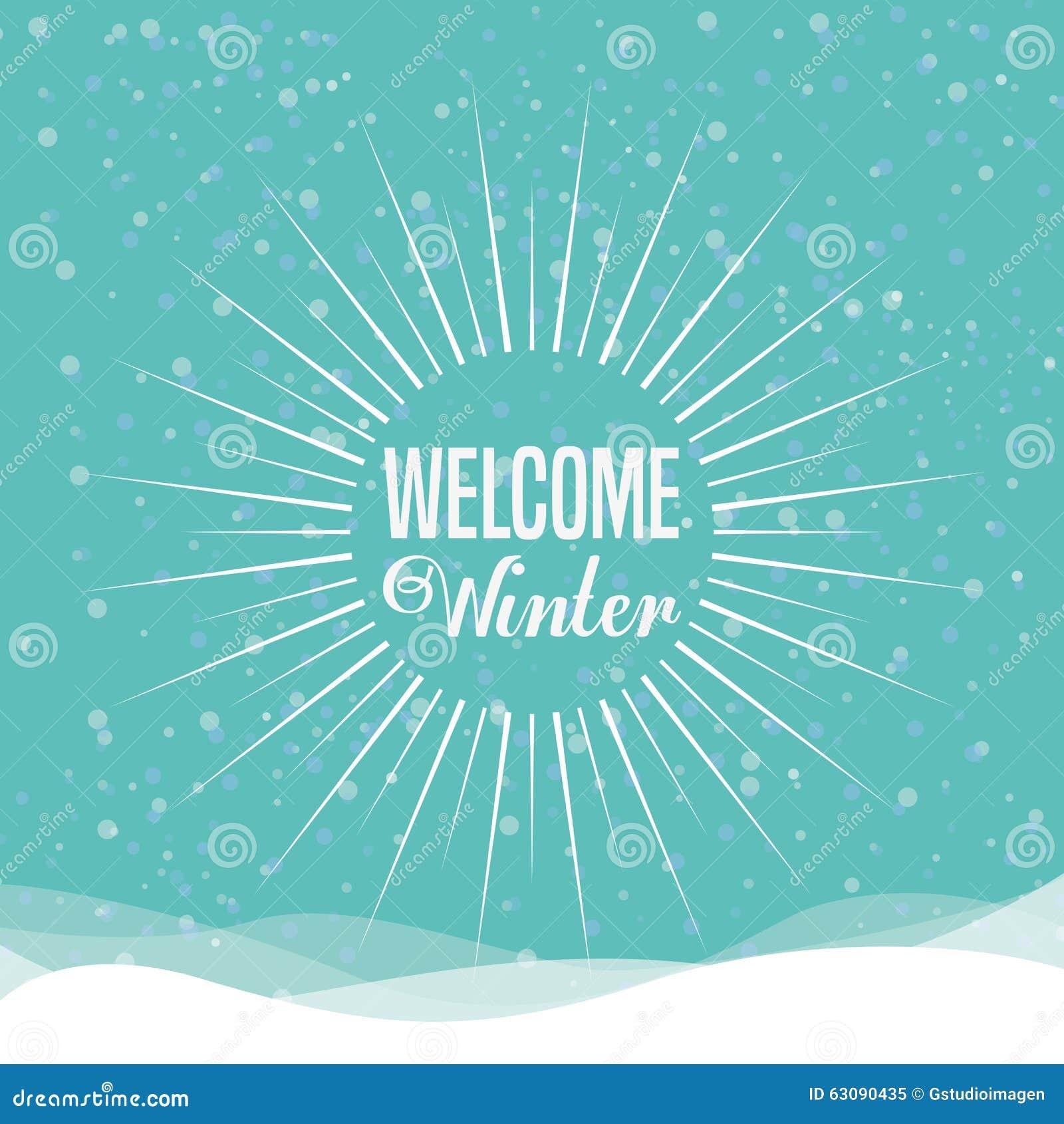 Download Conception Bienvenue D'hiver Illustration de Vecteur - Illustration du appréciez, saison: 63090435