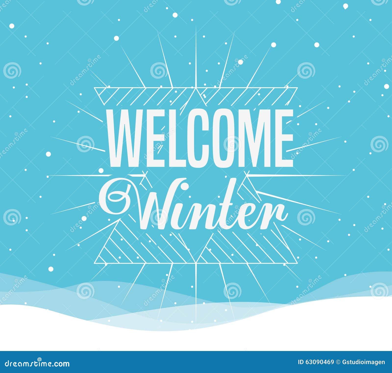 Download Conception Bienvenue D'hiver Illustration de Vecteur - Illustration du vacances, type: 63090469