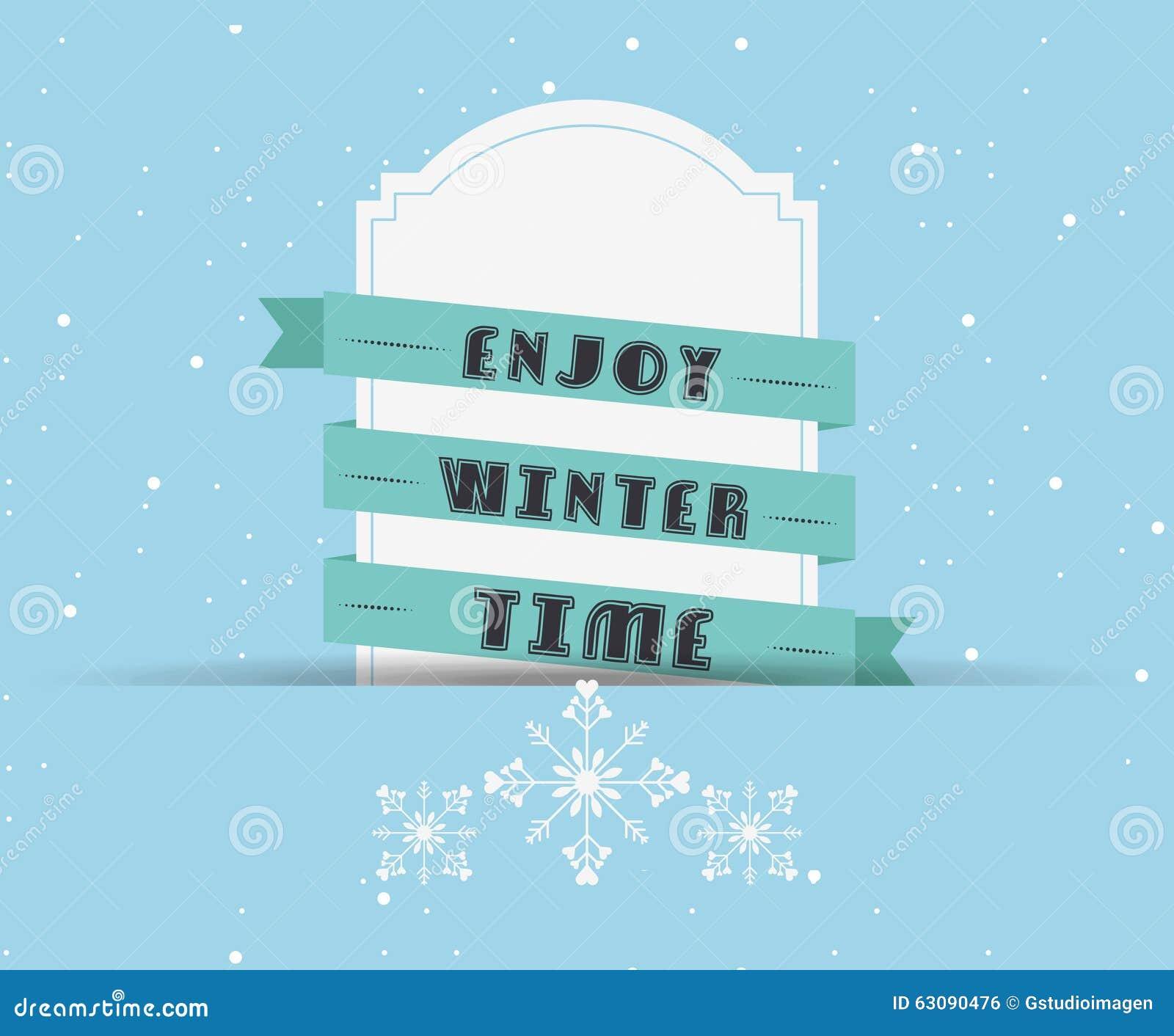 Download Conception Bienvenue D'hiver Illustration de Vecteur - Illustration du bande, vacances: 63090476