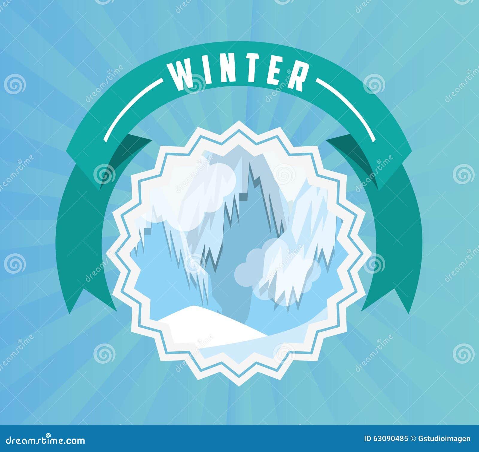 Download Conception Bienvenue D'hiver Illustration de Vecteur - Illustration du décoration, salutation: 63090485