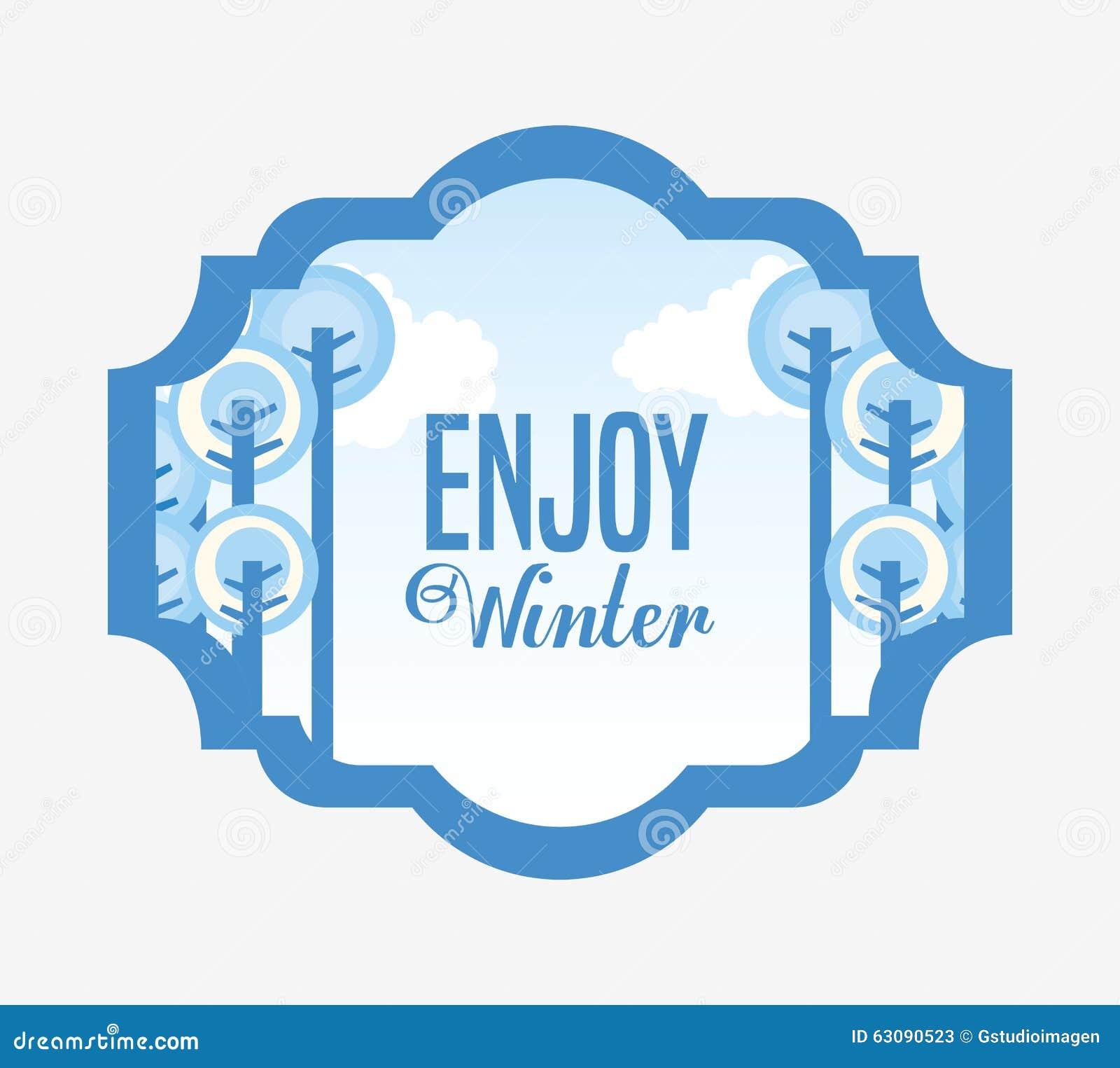 Download Conception Bienvenue D'hiver Illustration de Vecteur - Illustration du amusement, dessin: 63090523