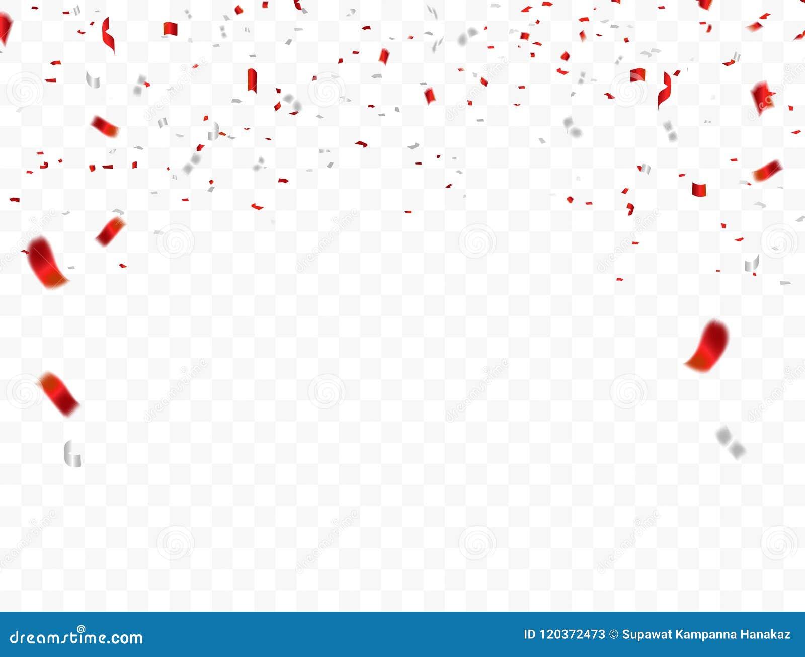Conception blanche rouge, fond de salutation d August Happy Independence Day du concept 17 de confettis Illustration de vecteur d