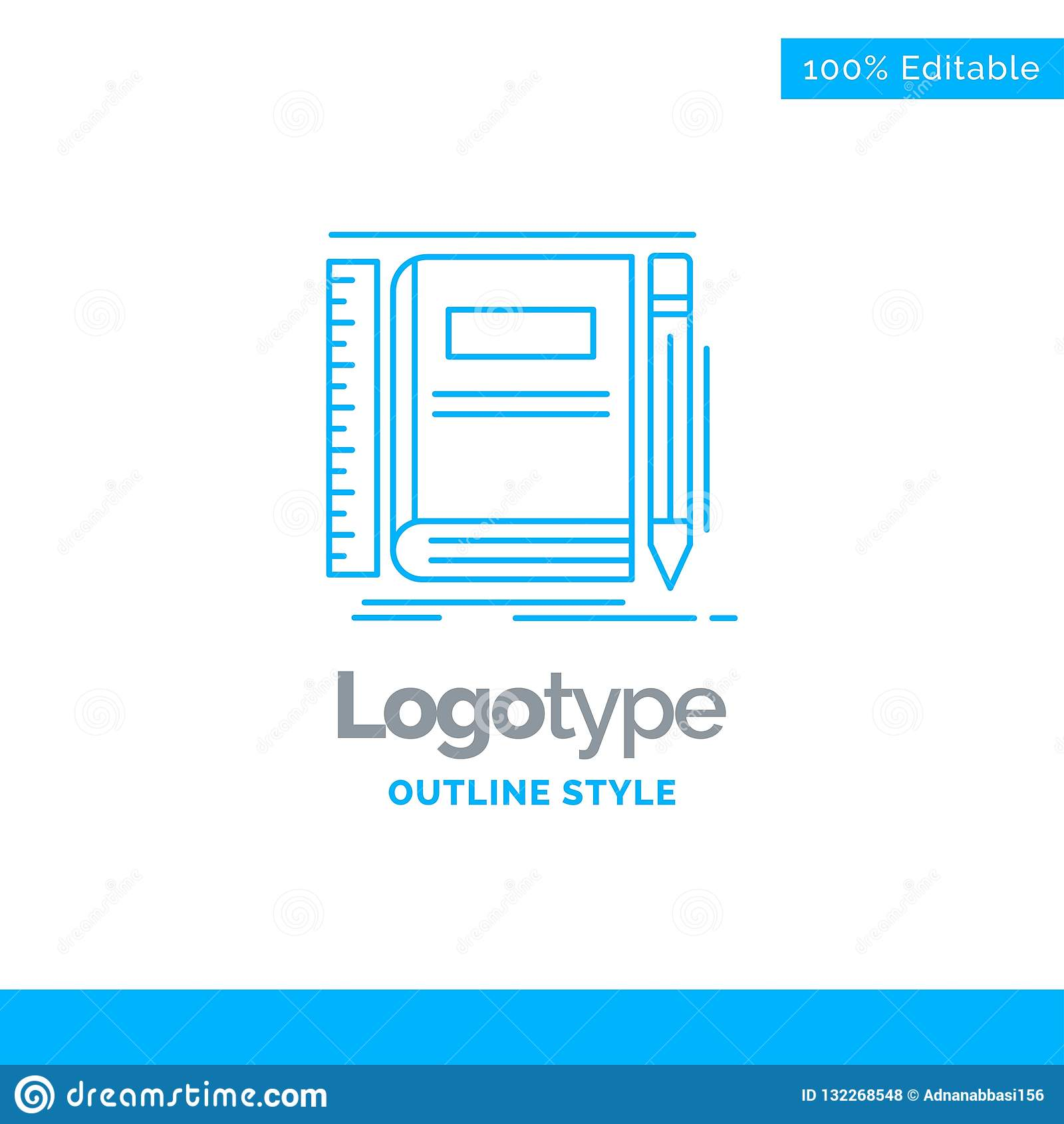 Conception Bleue De Logo Pour Le Livre Carnet Bloc Notes