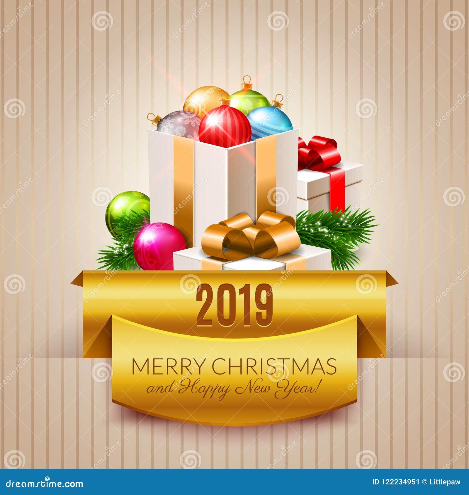 Photos De Joyeux Noel 2019.Bonne Annee 2019 Image Joyeux Noel Et Bonne Annee 2019