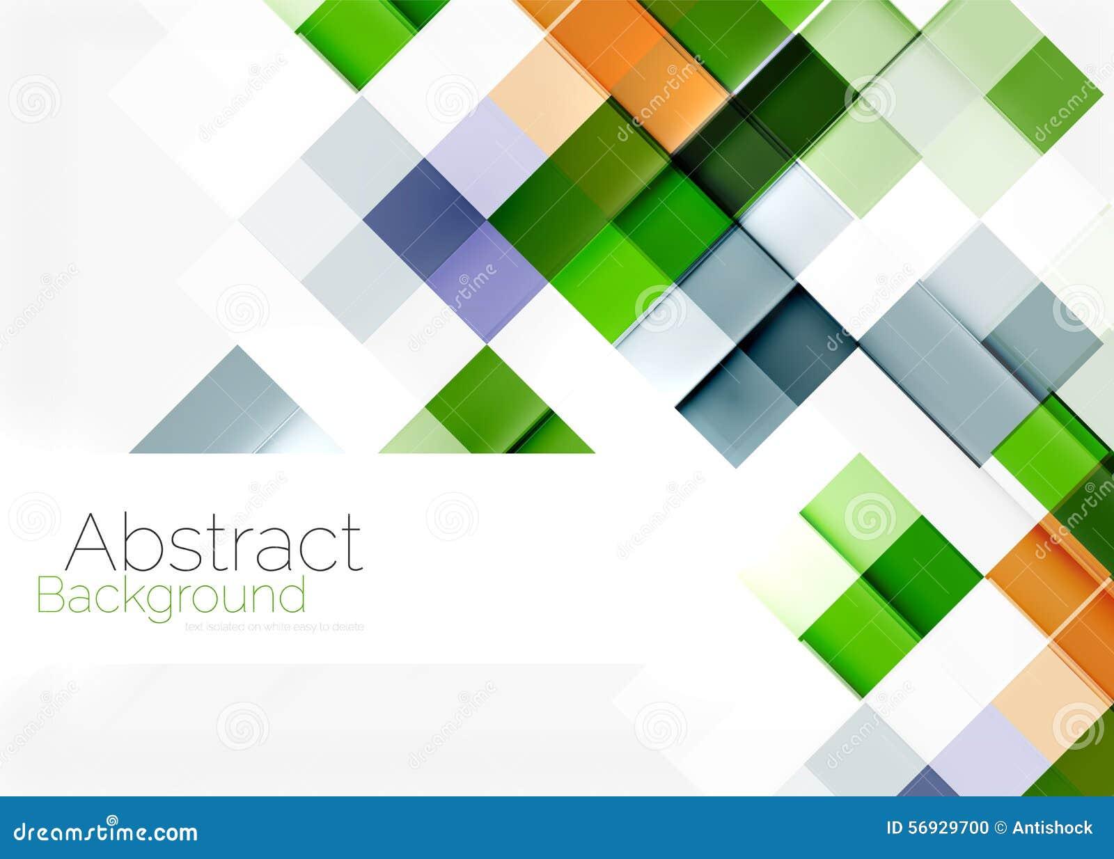 Conception carrée de modèle de mosaïque de forme universel