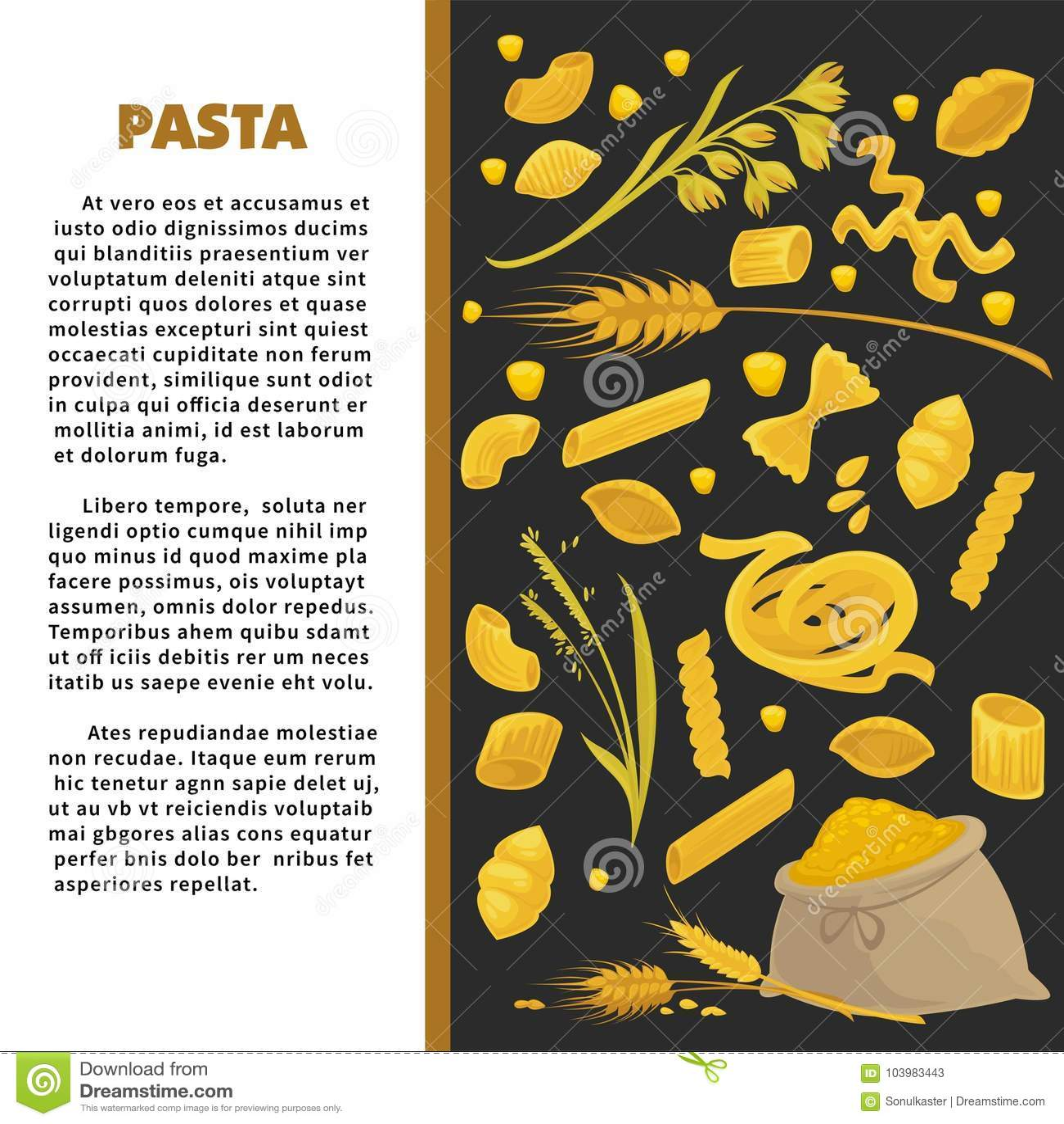 Conception D Affiche De Pates Pour La Cuisine Italienne De