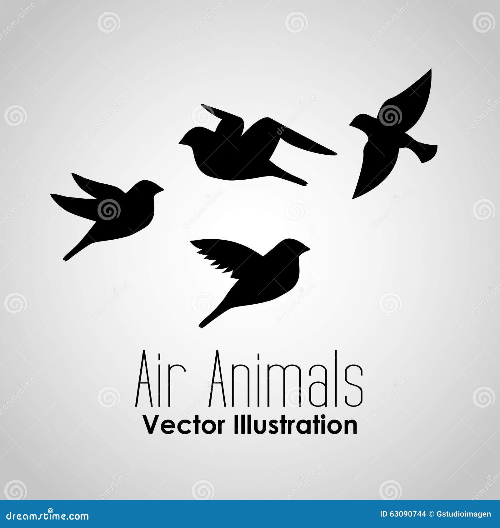 Download Conception d'animaux d'air illustration de vecteur. Illustration du nature - 63090744