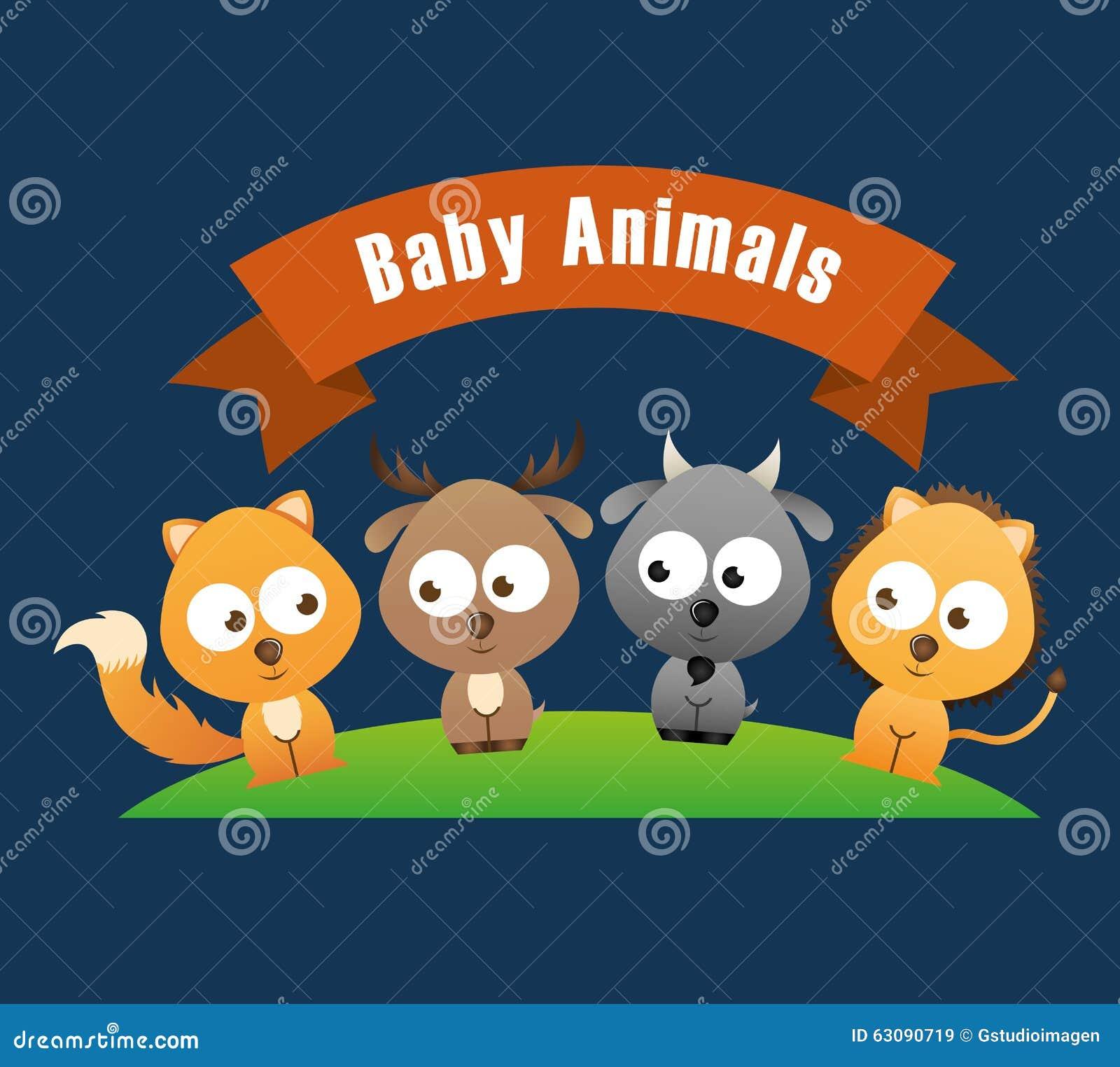 Download Conception D'animaux De Bébé Illustration de Vecteur - Illustration du bande, sourire: 63090719