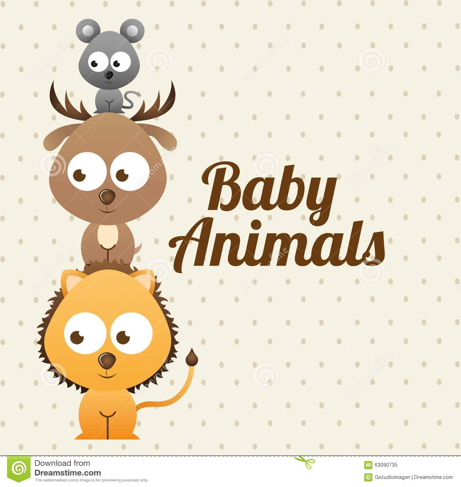 Download Conception D'animaux De Bébé Illustration de Vecteur - Illustration du rapiéçage, graphisme: 63090735