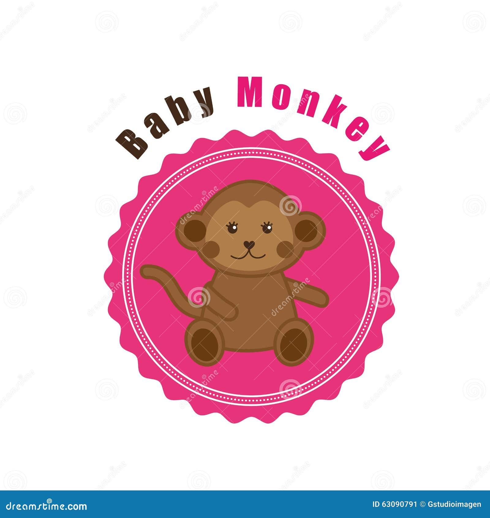 Download Conception D'animaux De Bébé Illustration de Vecteur - Illustration du adorable, singe: 63090791